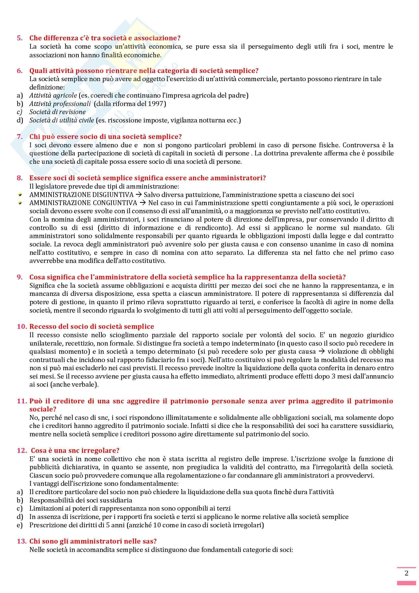 Diritto commerciale - Domande e risposte Pag. 2