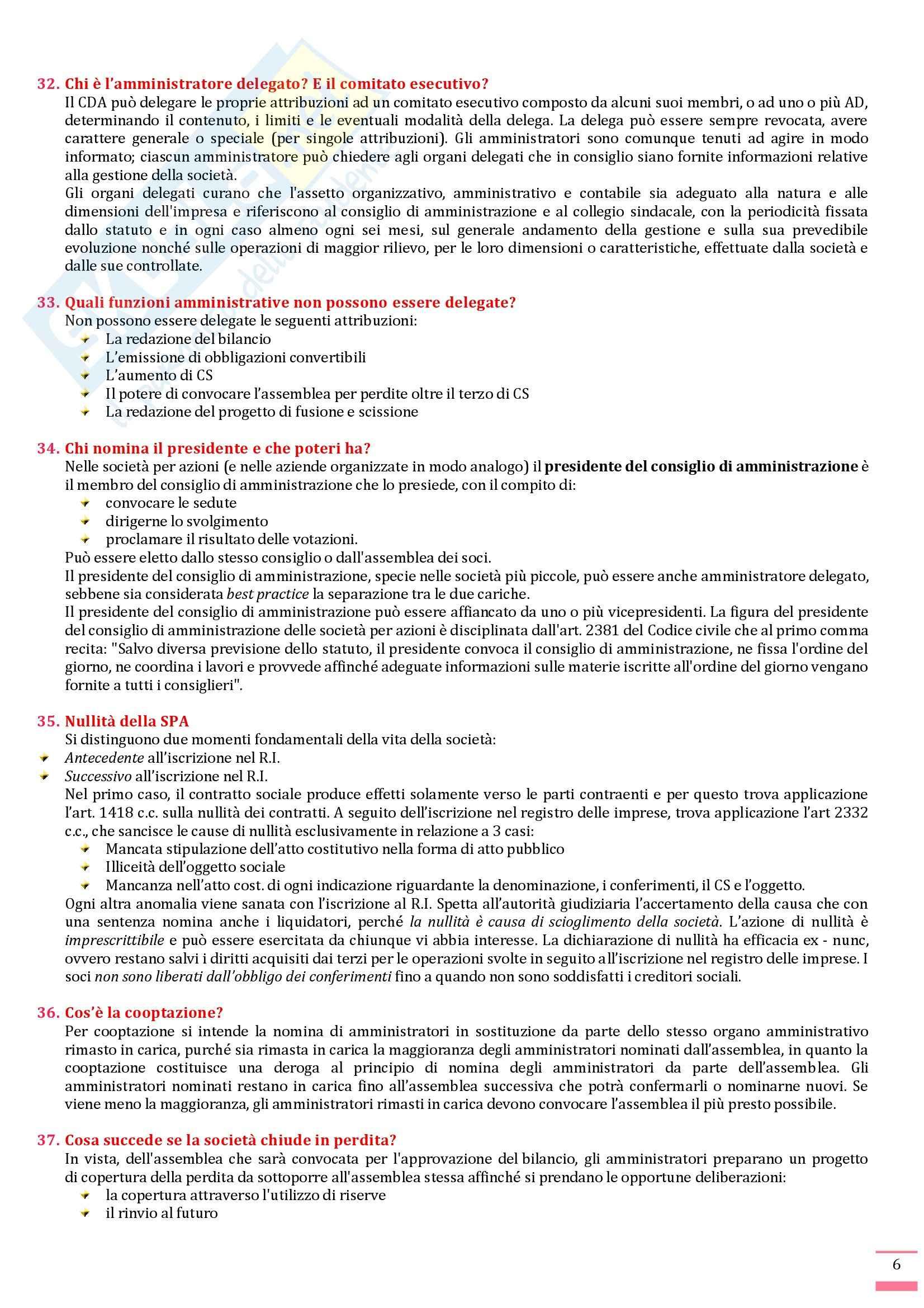 Diritto commerciale - Domande e risposte Pag. 6