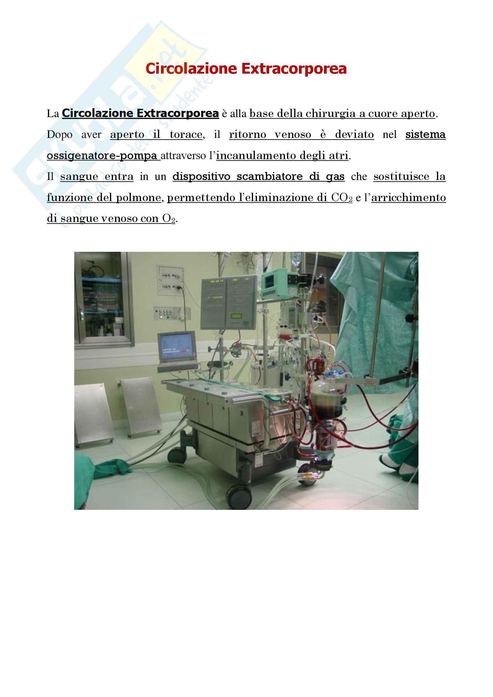 Cardiochirurgia - circolazione extracorporea