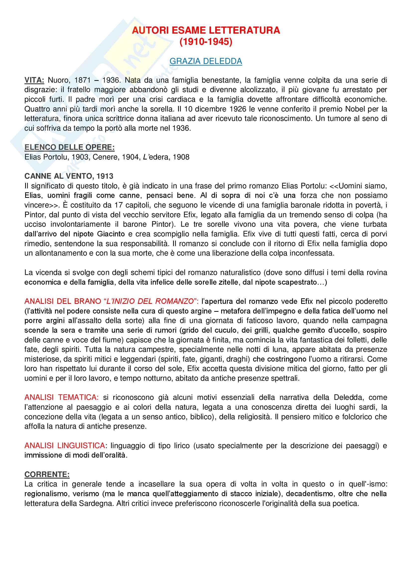 Riassunto esame Lingua e Letteratura Italiana, prof. Zangrandi, libro consigliato Storia della letteratura italiana (1910-1945), Giulio Ferroni