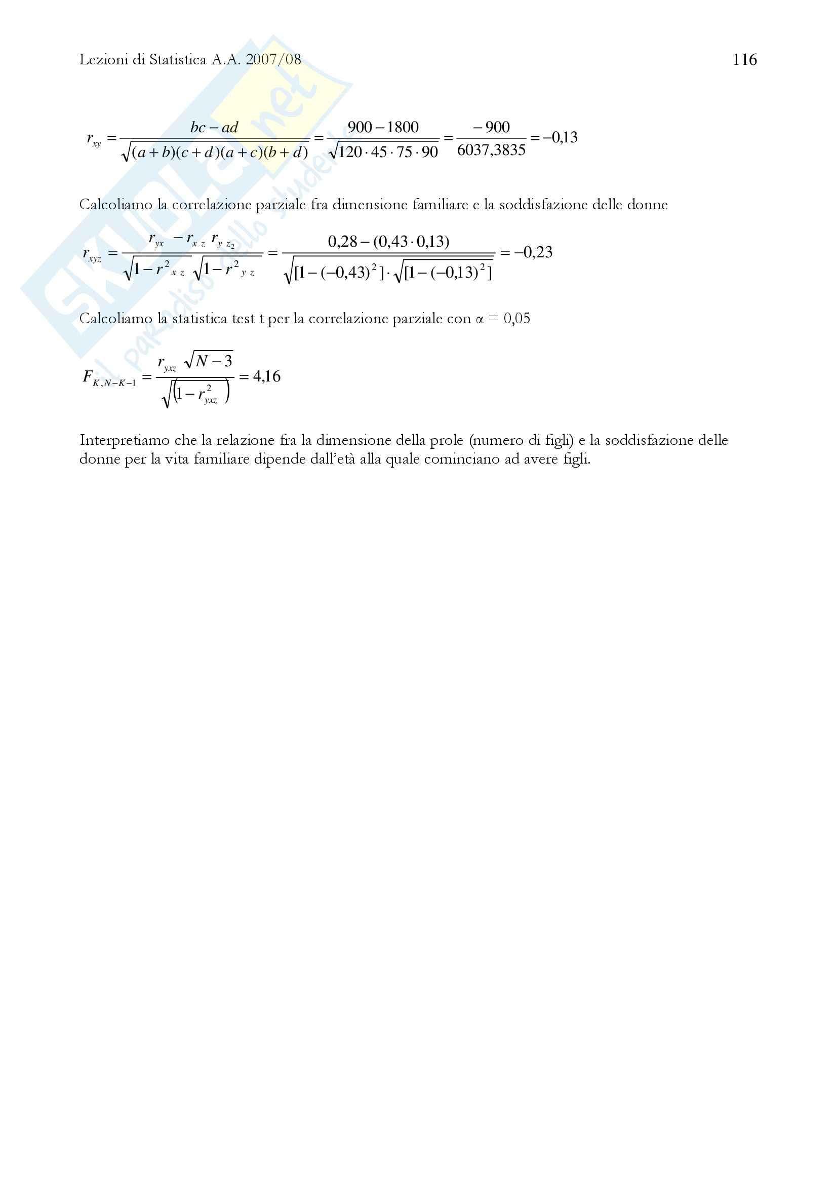 Metodi quantitativi della ricerca sociale - Lezioni Pag. 116