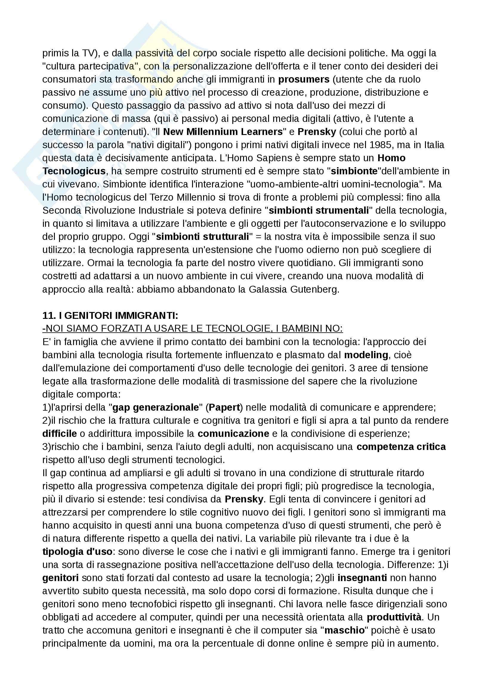 Riassunto esame Teoria e tecnica dei nuovi media, prof. Ferri, libro consigliato I nativi digitali, Ferri Pag. 11