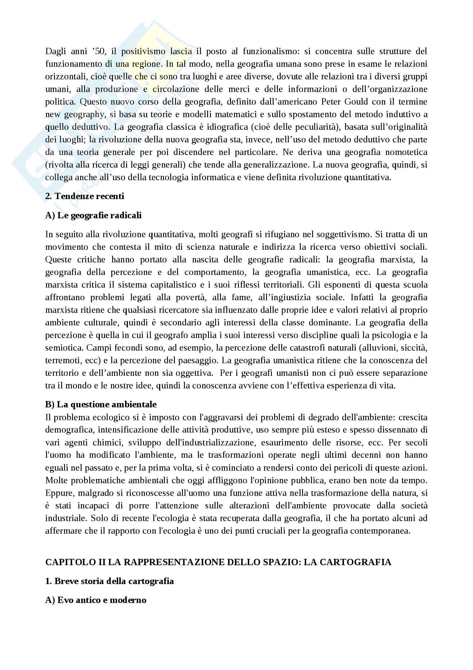 Riassunto esame Geografia umana, prof. Maury, libro consigliato Compendio di geografia umana, Dagradi-Cencini Pag. 2