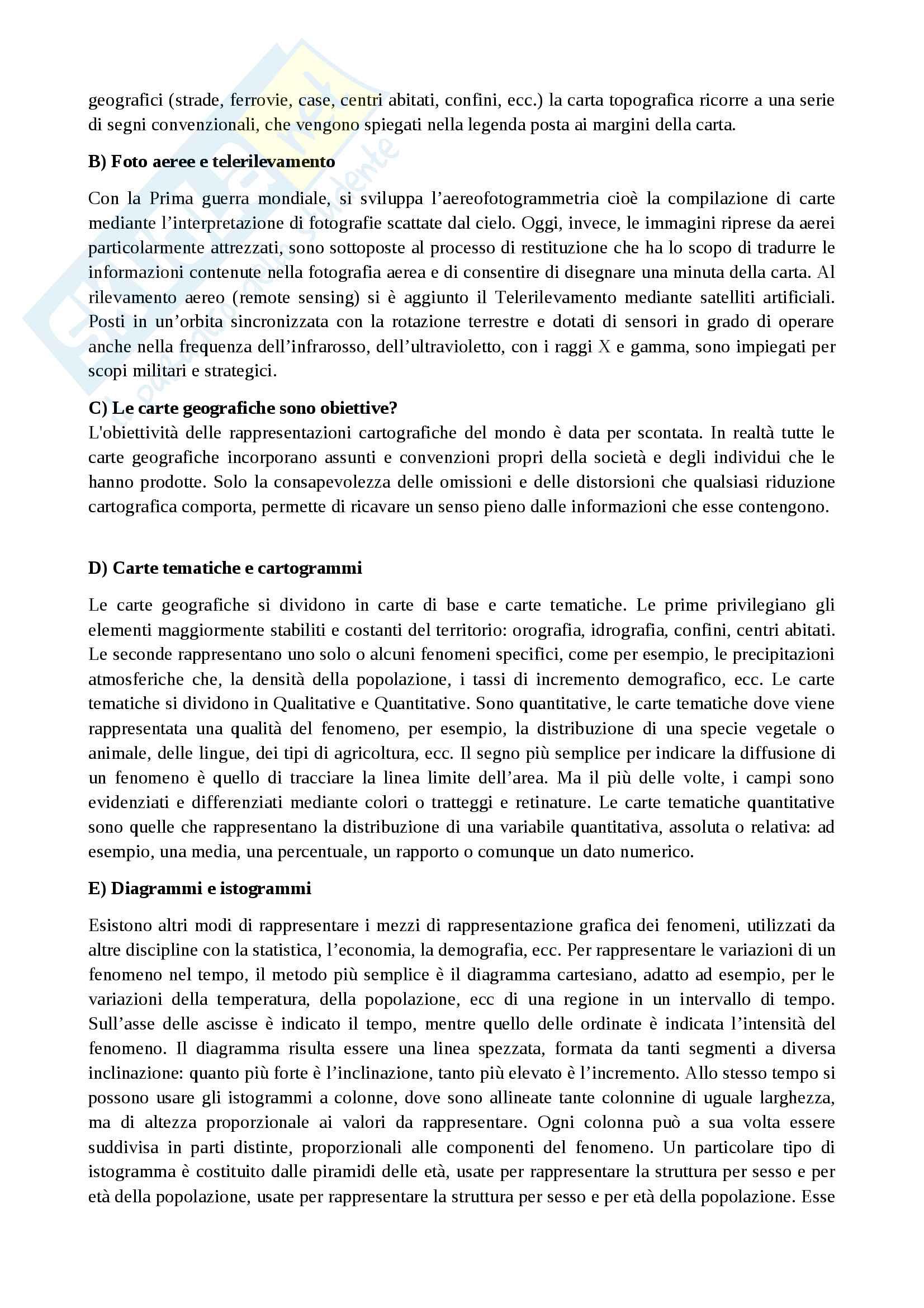 Riassunto esame Geografia umana, prof. Maury, libro consigliato Compendio di geografia umana, Dagradi-Cencini Pag. 6