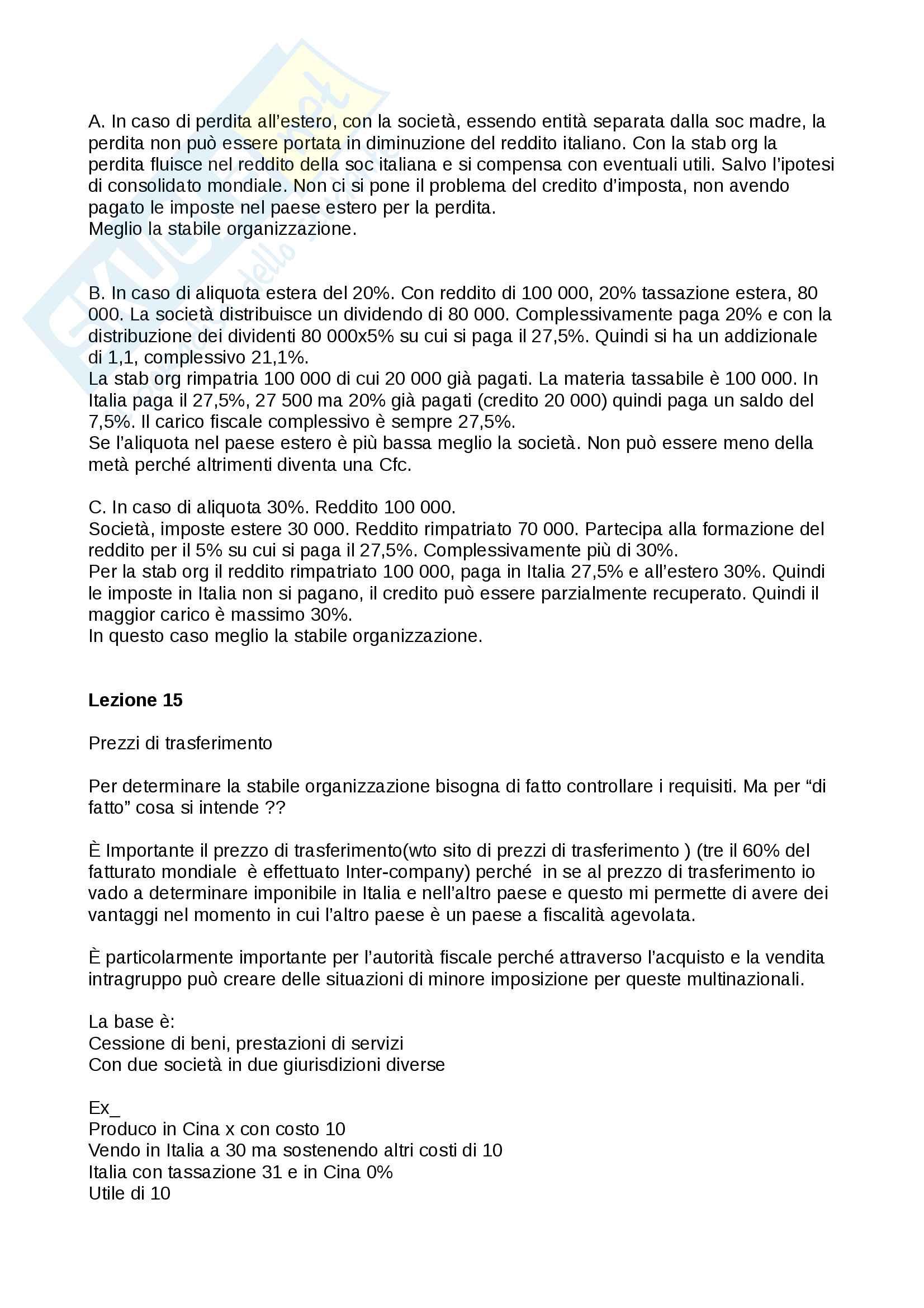 Pianificazione fiscale, prof Cremona anno 2016/2017 Pag. 36