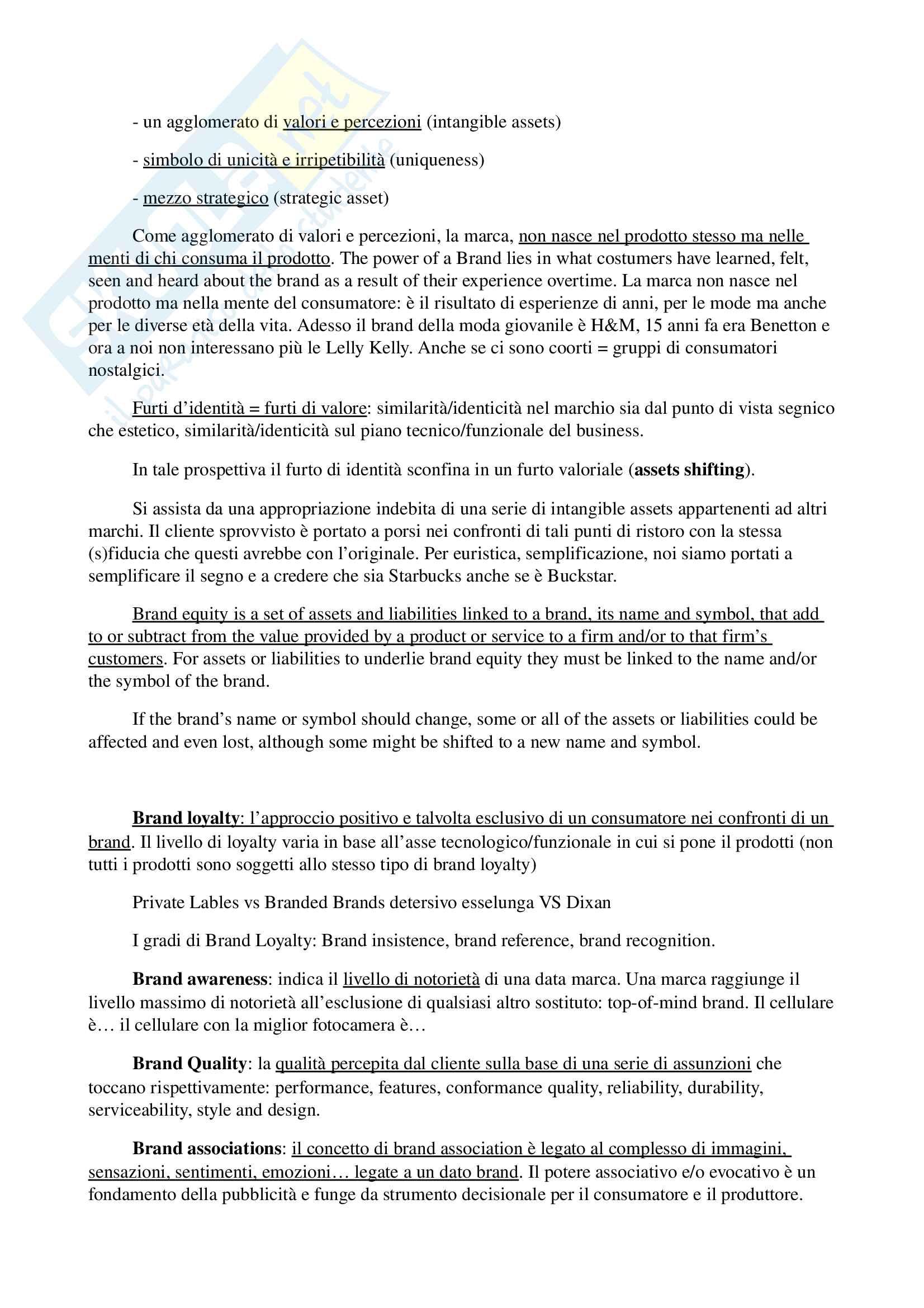 Appunti per esame di storia e linguaggi della pubblicità, prof. Musso, libro consigliato 'Brand Reloading - Patrizia Musso' Pag. 26
