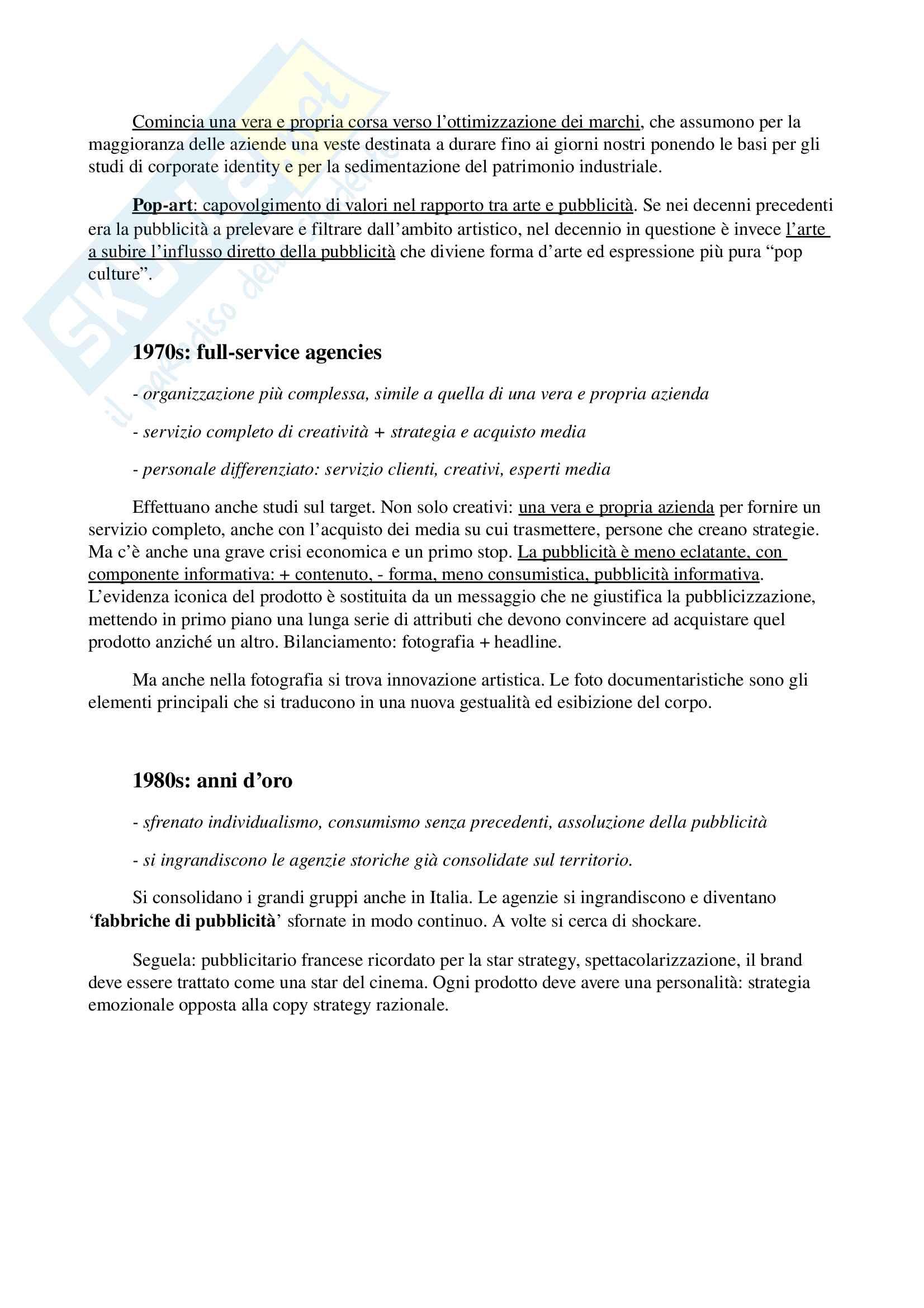 Appunti per esame di storia e linguaggi della pubblicità, prof. Musso, libro consigliato 'Brand Reloading - Patrizia Musso' Pag. 6