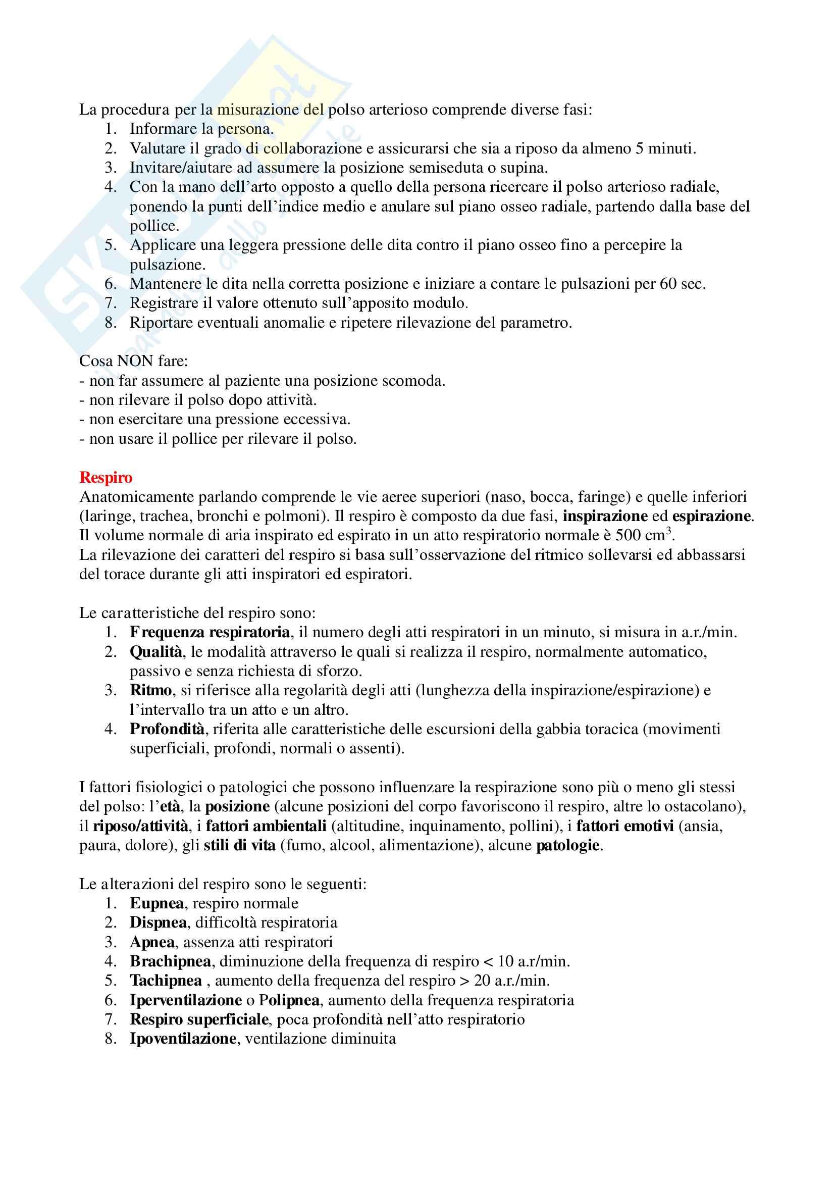 Infermieristica Clinica - Appunti Completi Pag. 2