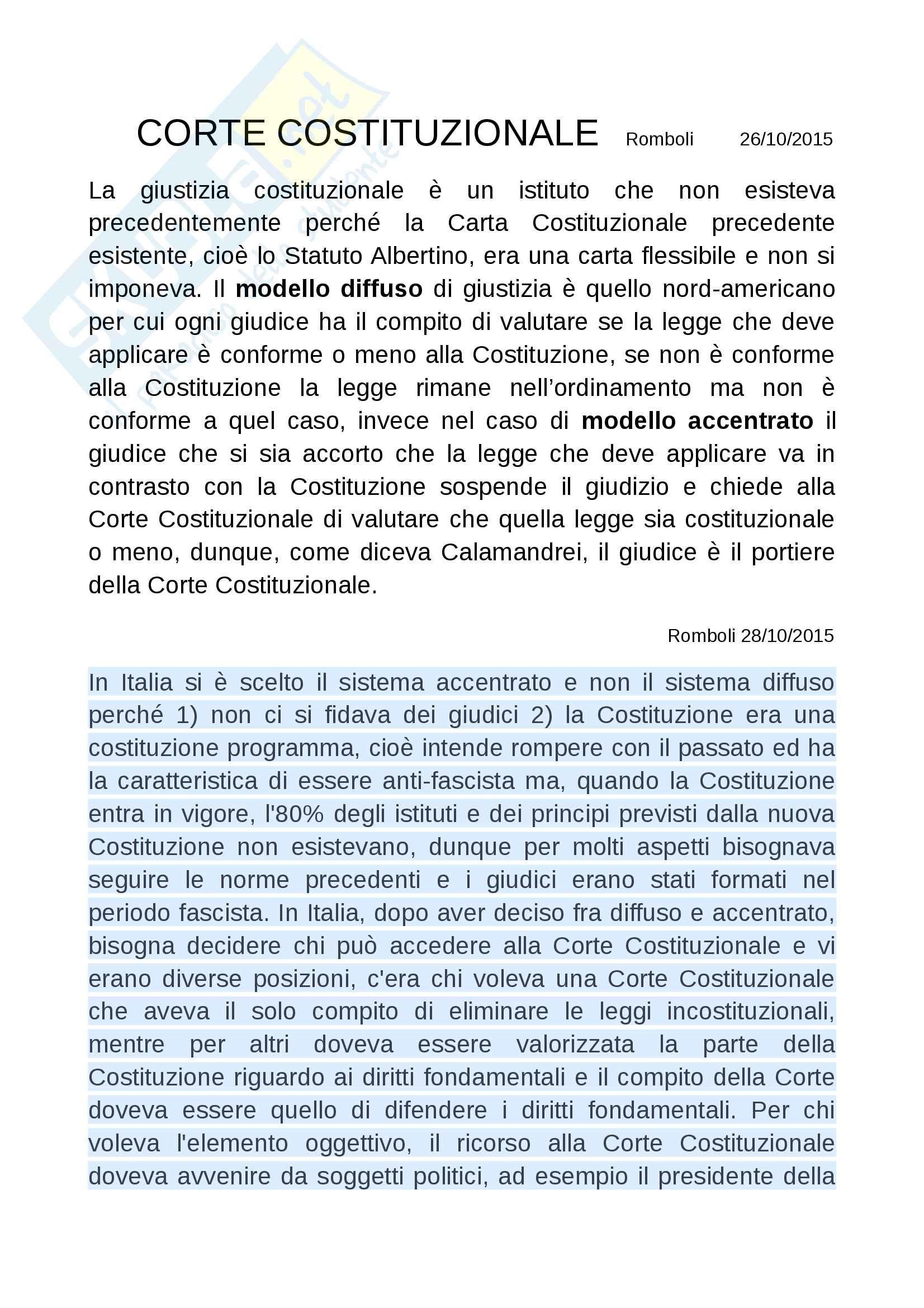 Diritto costituzionale II prof Romboli Pag. 16