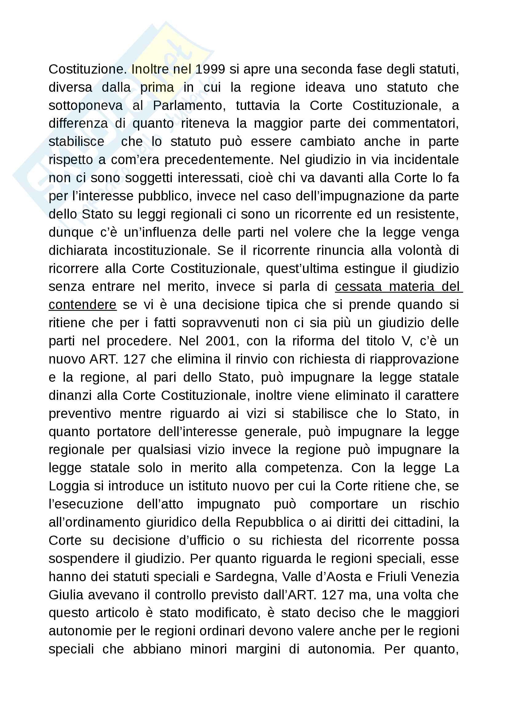 Diritto costituzionale II prof Romboli Pag. 21