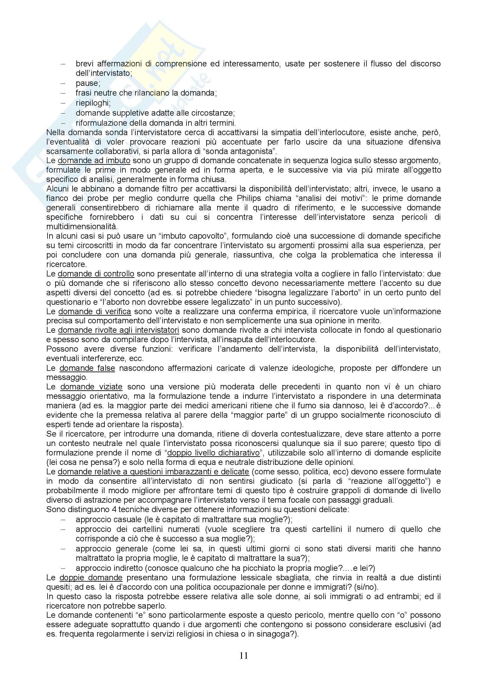 Metodologia e tecniche della ricerca sociale - Appunti Pag. 11