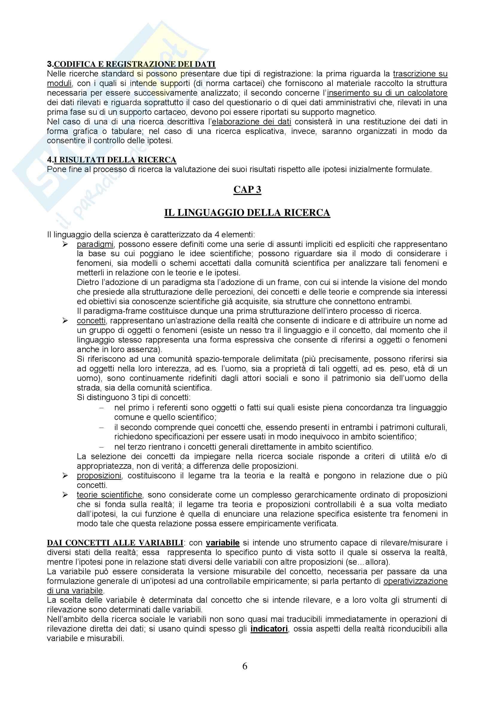 Metodologia e tecniche della ricerca sociale - Appunti Pag. 6