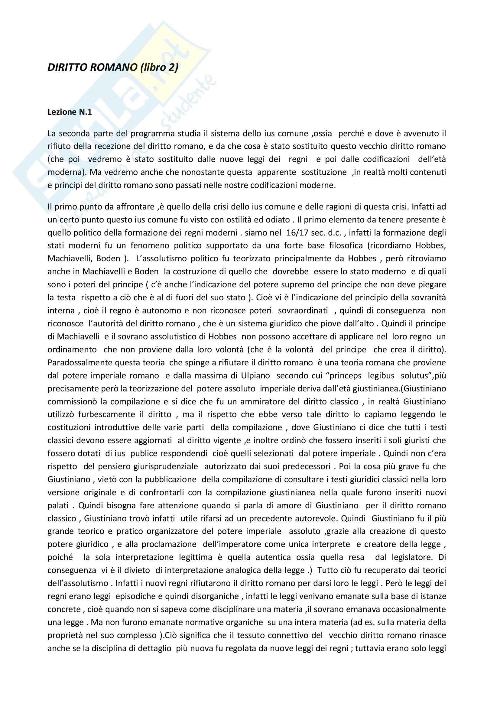 Diritto romano, Solidoro - Appunti