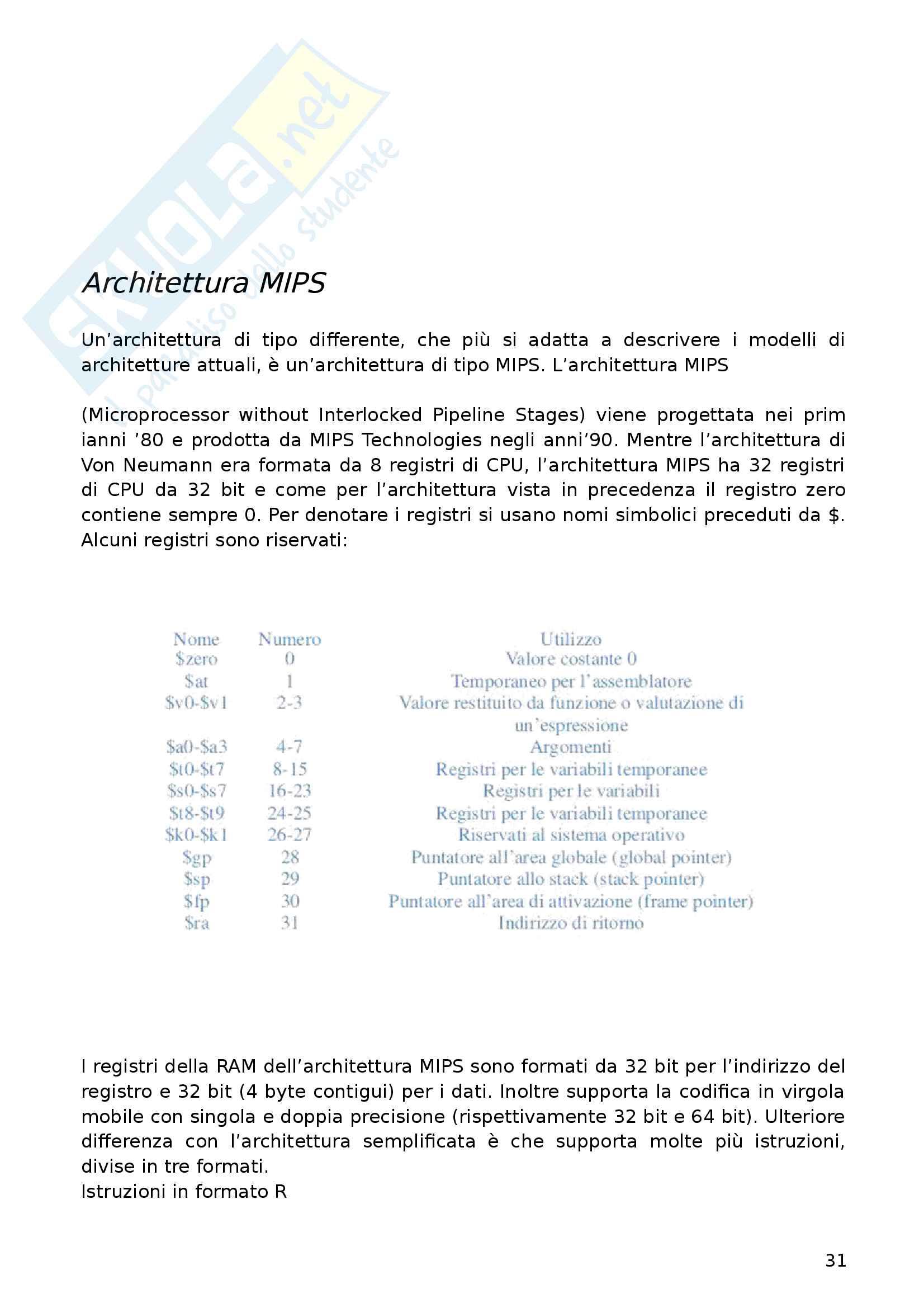 Appunti Architettura dei Calcolatori Elettronici Pag. 31