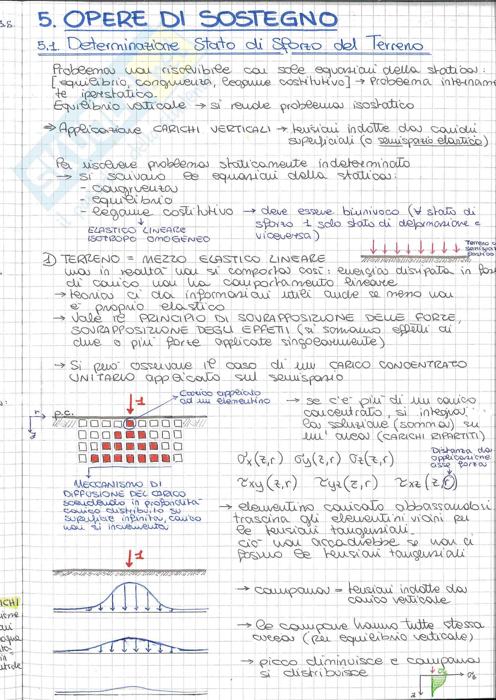 Riassunto esame Fondamenti di Geotecnica, prof. Desideri, libro consigliato Fondazioni, C. Viggianii: opere di sostegno