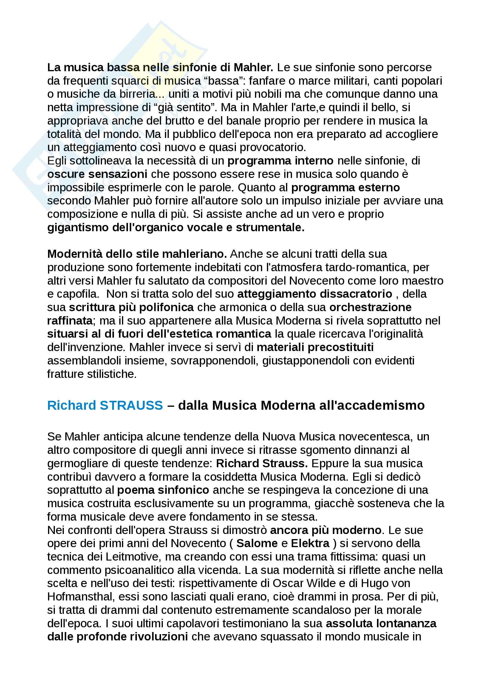 Riassunto Storia della musica moderna e contemporanea, libro consigliato: manuale, Carrozzo, Cimagalli - il 1800 Pag. 21