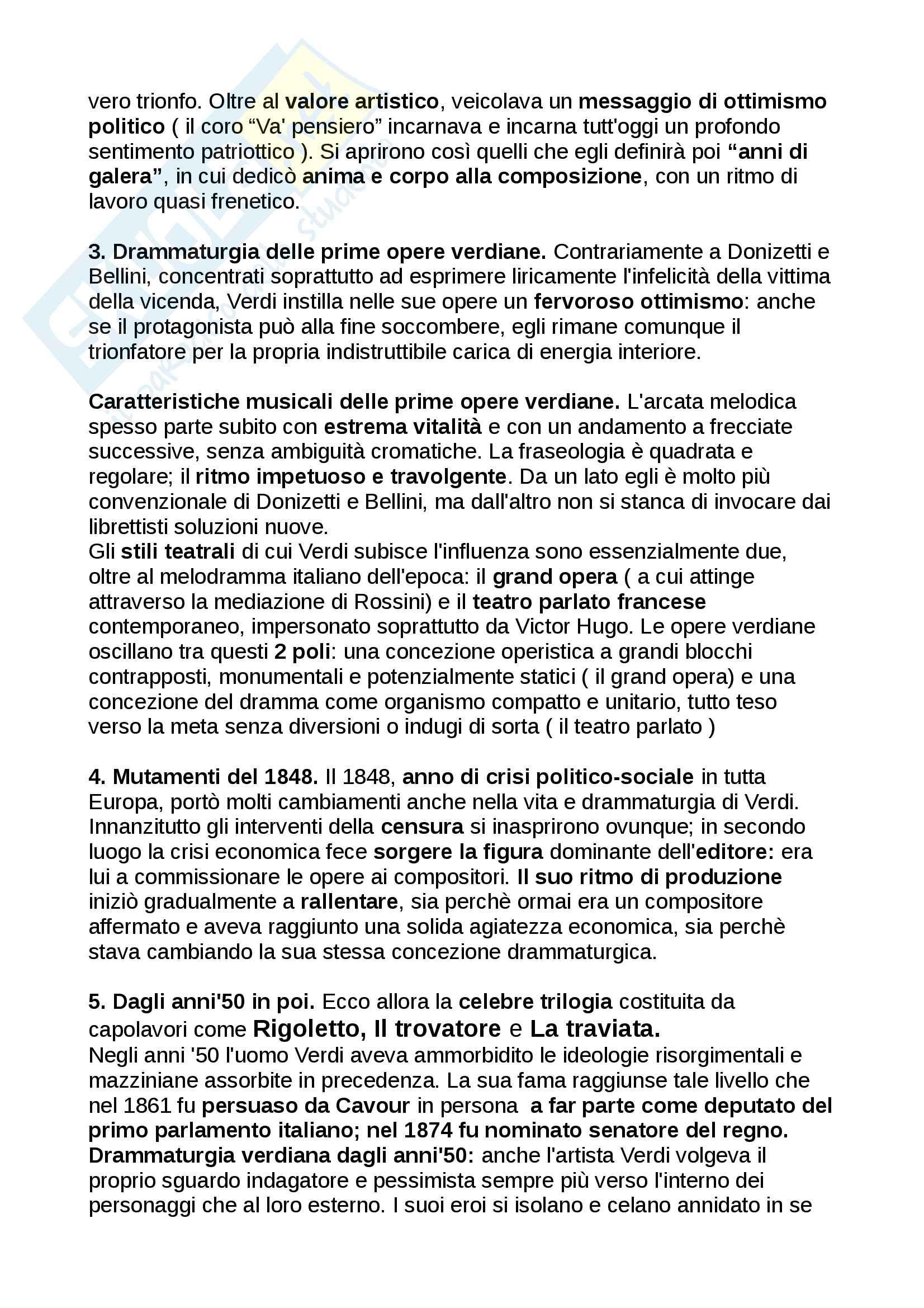 Riassunto Storia della musica moderna e contemporanea, libro consigliato: manuale, Carrozzo, Cimagalli - il 1800 Pag. 6