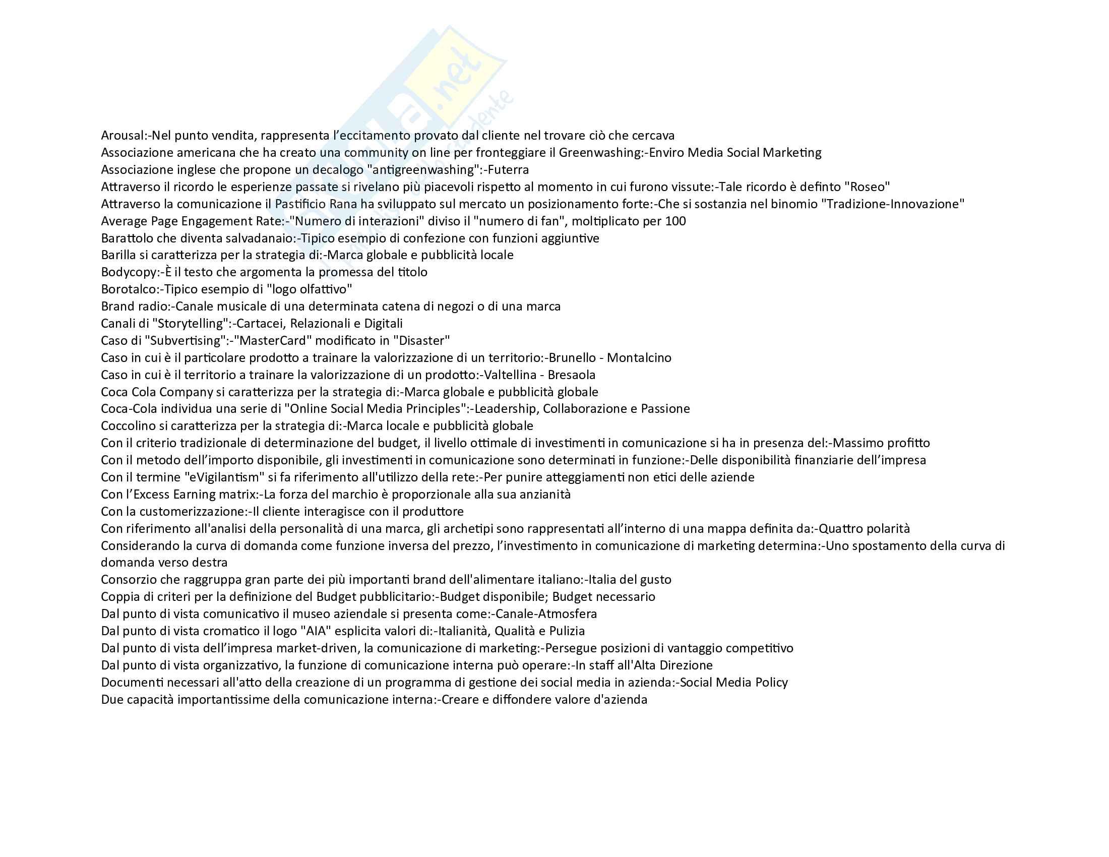 Strategie di Comunicazione D Impresa tutte le domande Pag. 2