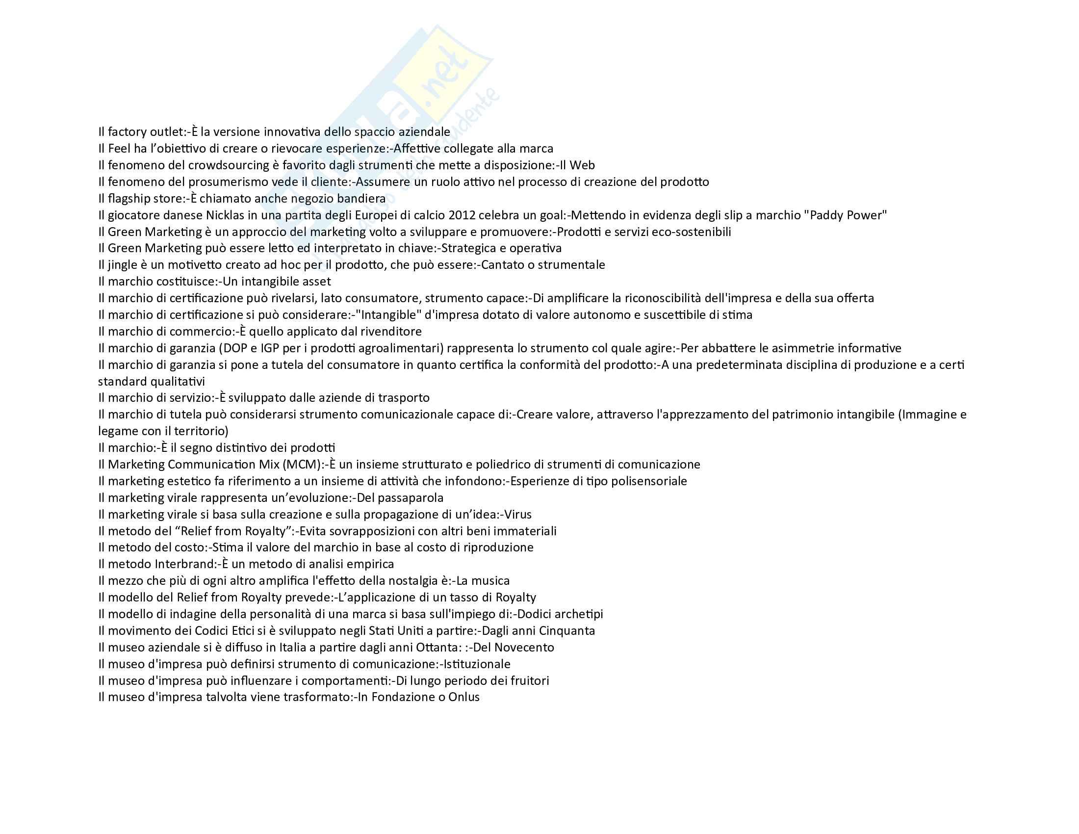 Strategie di Comunicazione D Impresa tutte le domande Pag. 6