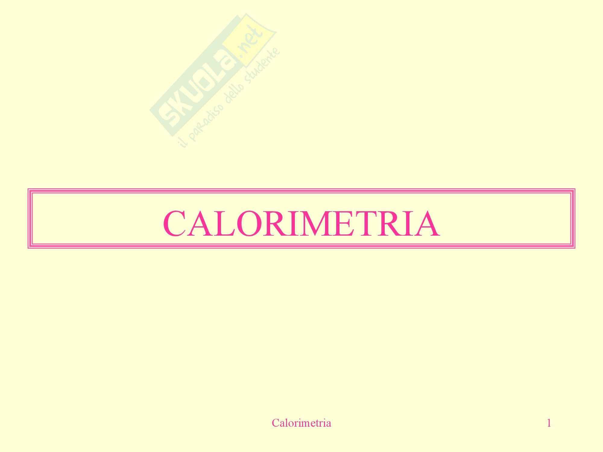 Fisica medica - calorimetria