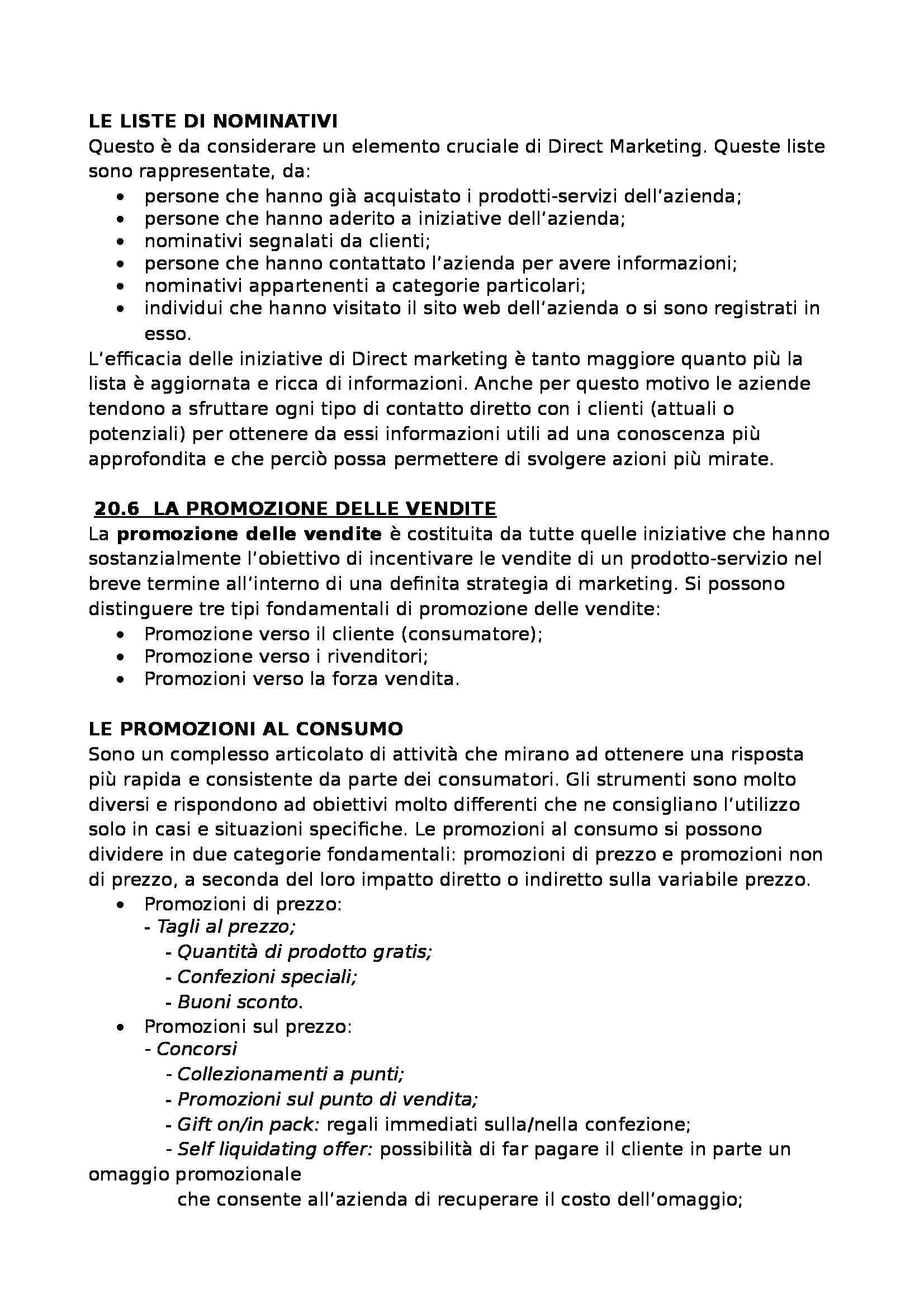 Riassunto esame Economia e Gestione delle Imprese, prof. Colurcio, libro consigliato Marketing del Prodotto-servizio, Raimondi Pag. 141