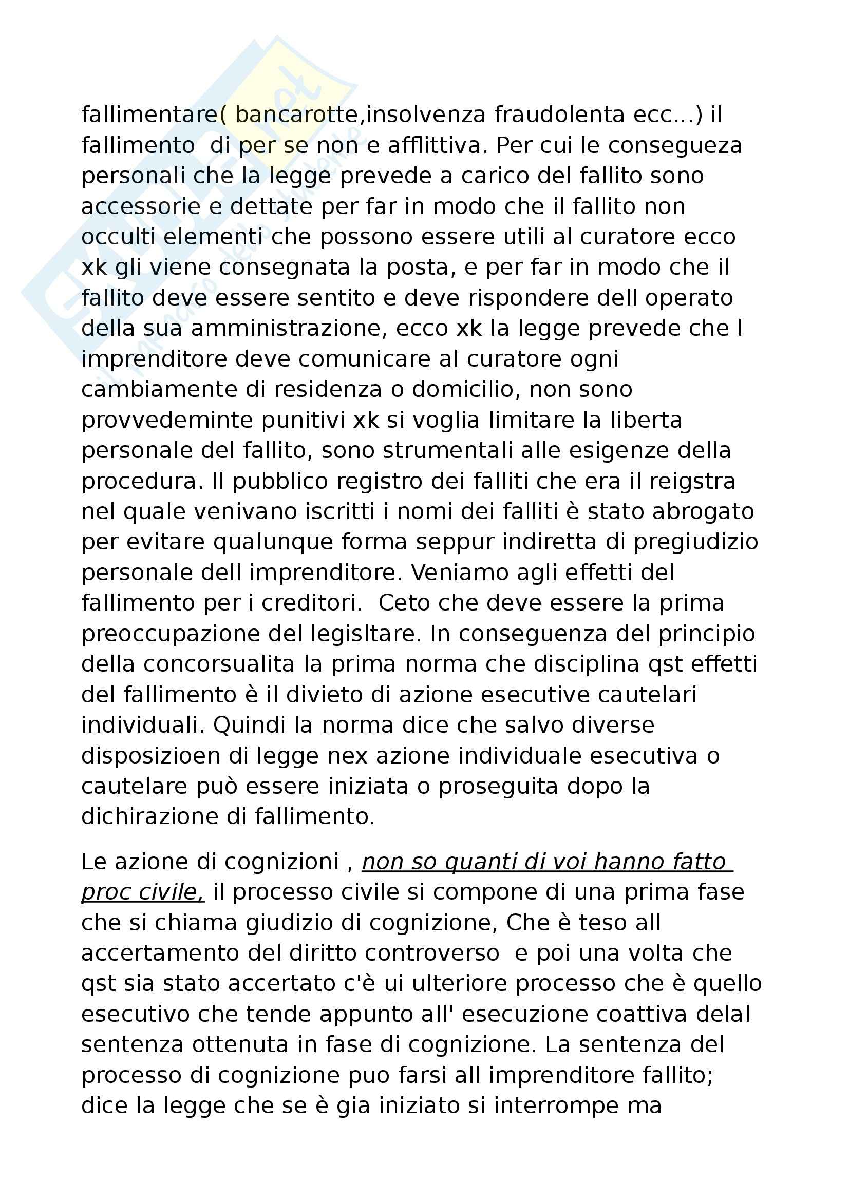Diritto commerciale - fallimento e procedure concorsuali Pag. 11
