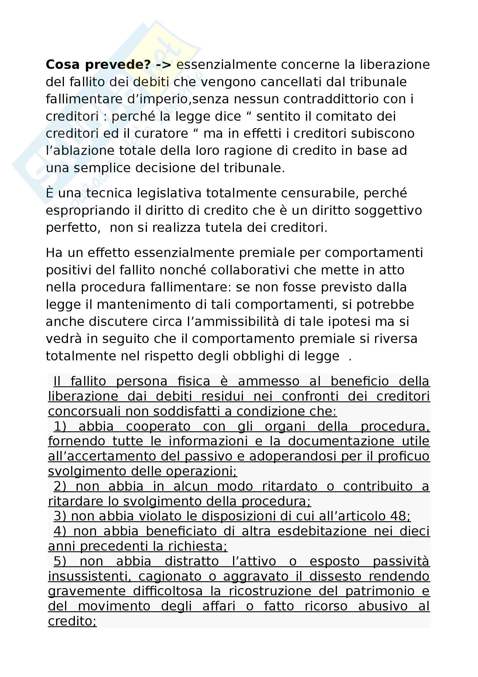 Diritto commerciale - fallimento e procedure concorsuali Pag. 31