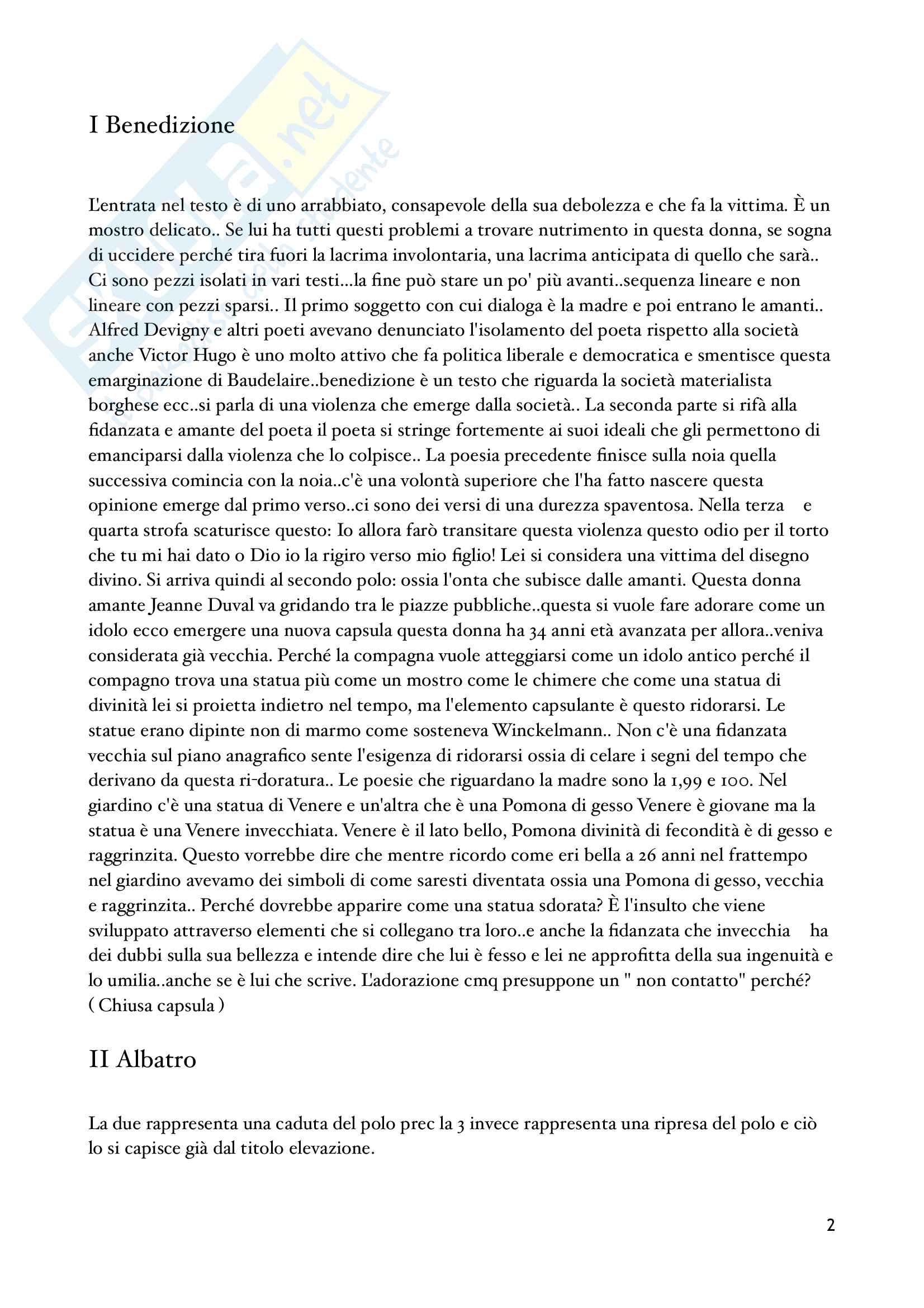 Letteratura francese Baudelaire Pag. 2