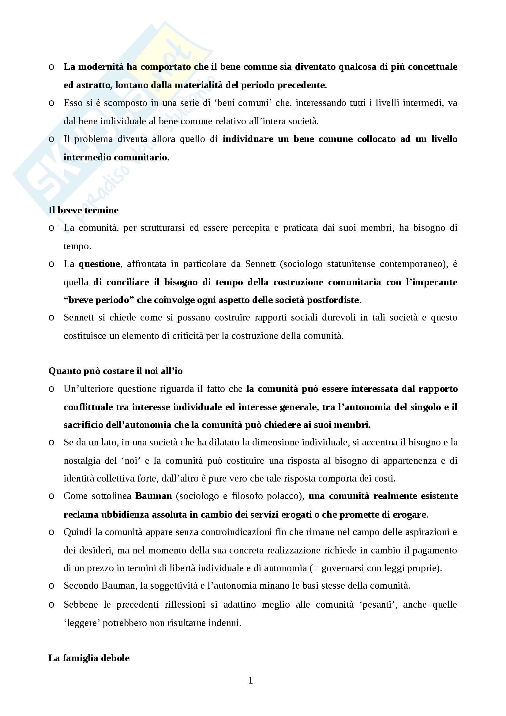 Riassunto esame Pedagogia, prof. Nanni, libro consigliato Pedagogia della comunità. Criticità e prospettive educative, Sergio Tramma Pag. 16