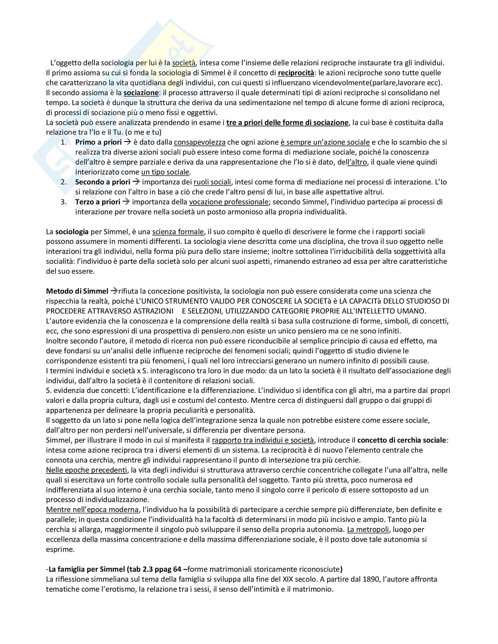 Riassunto esame Sociologia della famiglia, prof. Censi, libro consigliato Famiglia e Sociologia, Censi Pag. 11