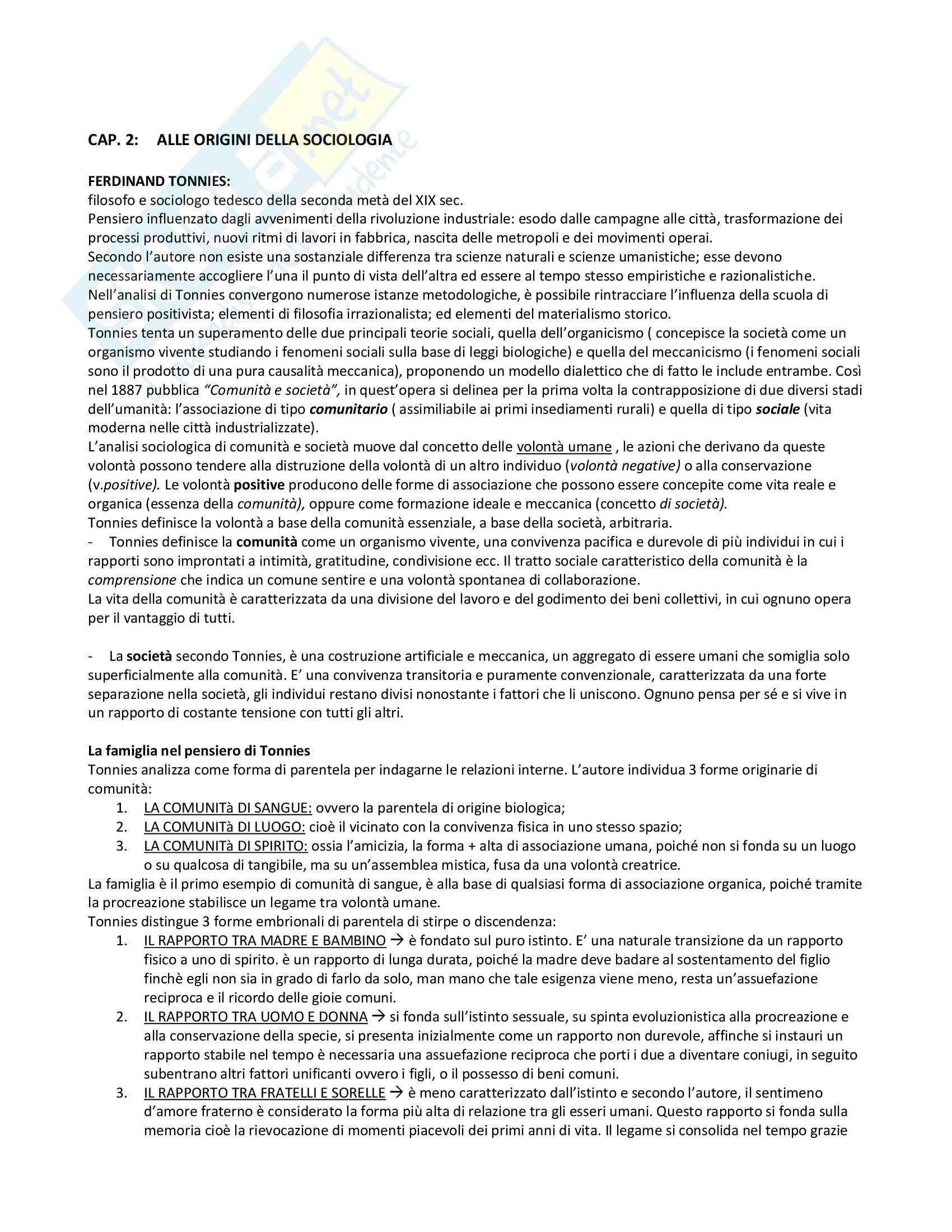 Riassunto esame Sociologia della famiglia, prof. Censi, libro consigliato Famiglia e Sociologia, Censi Pag. 6