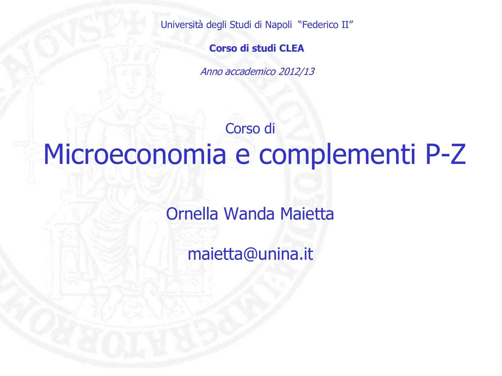 Microeconomia: definizioni