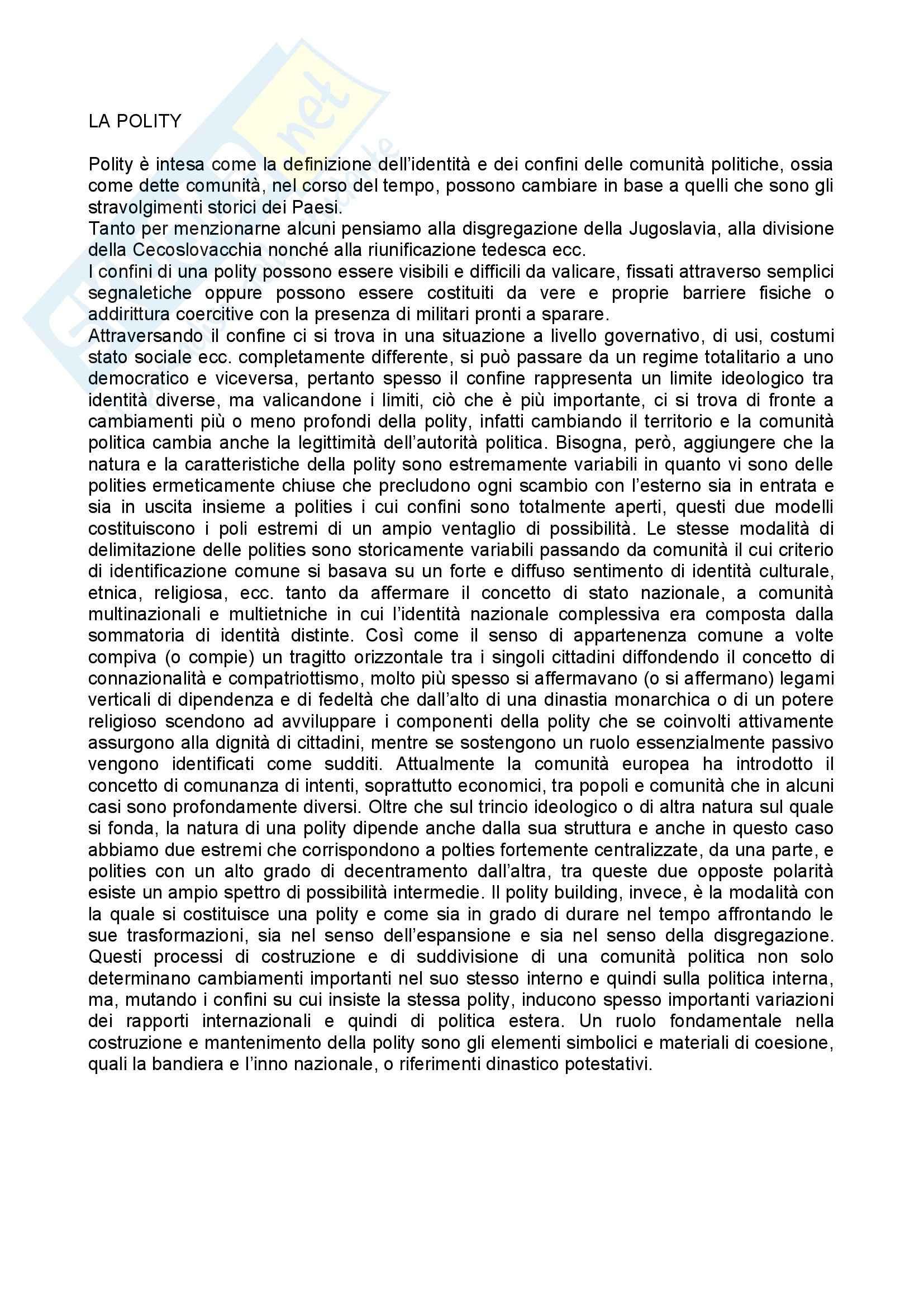 appunto P. Scienze Sociali Scienza politica