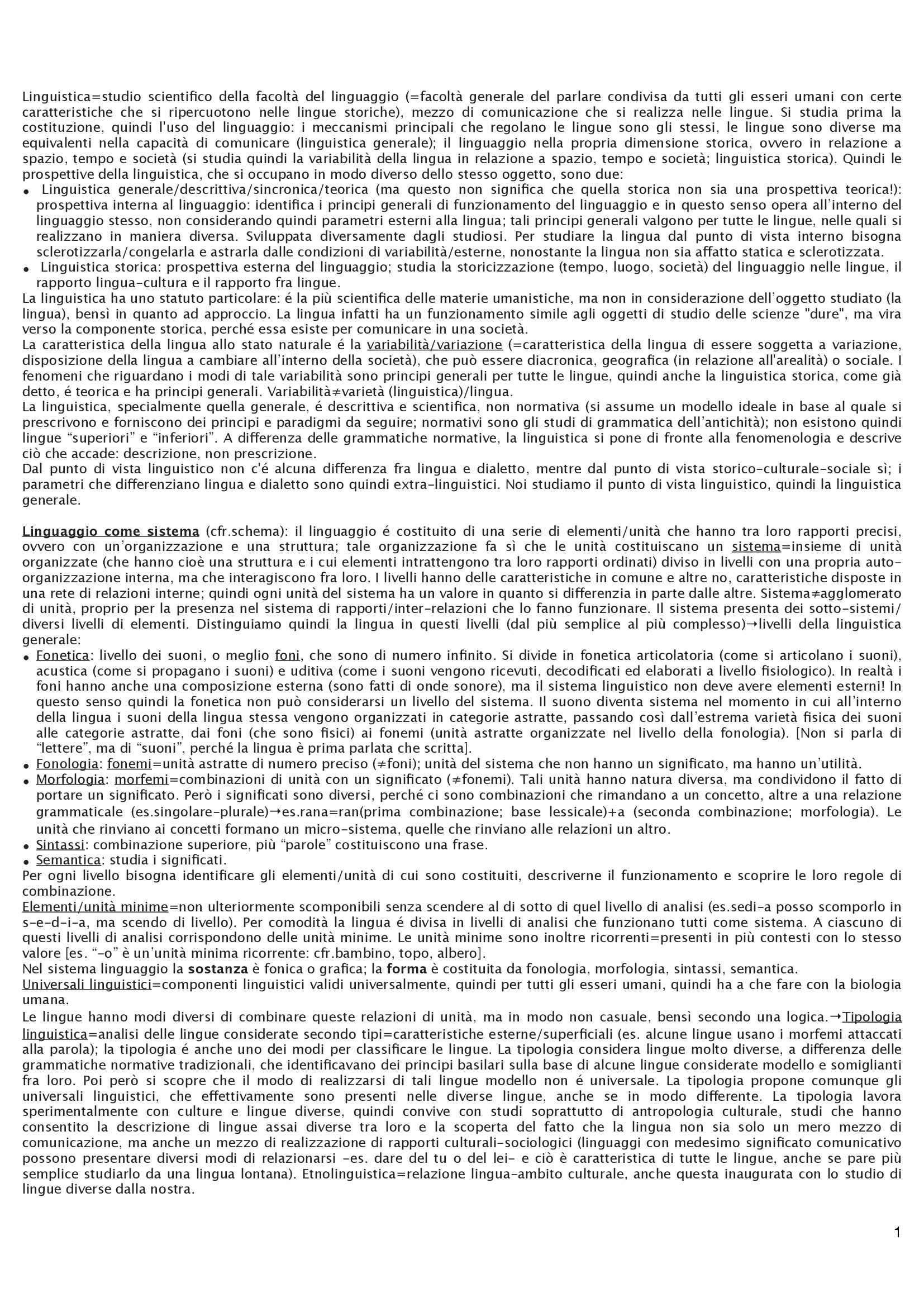 appunto A. Marinetti Fondamenti di linguistica testuale