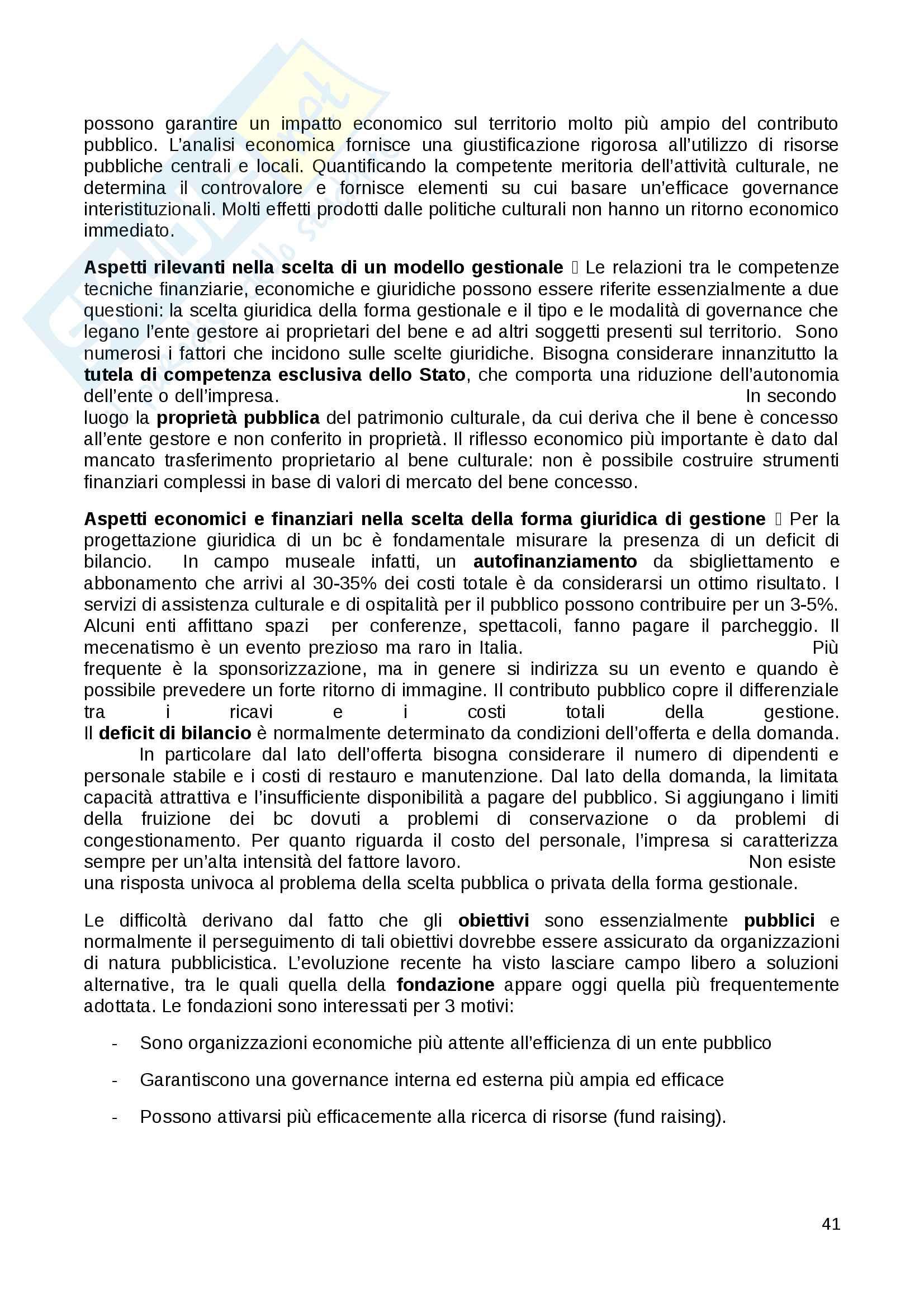 Riassunto esame Diritto dei Beni Culturali in Italia e in Europa docente Carla Barbati libro consigliato Diritto e Gestione dei Beni Culturali Barbati Cammelli Sciullo Pag. 41