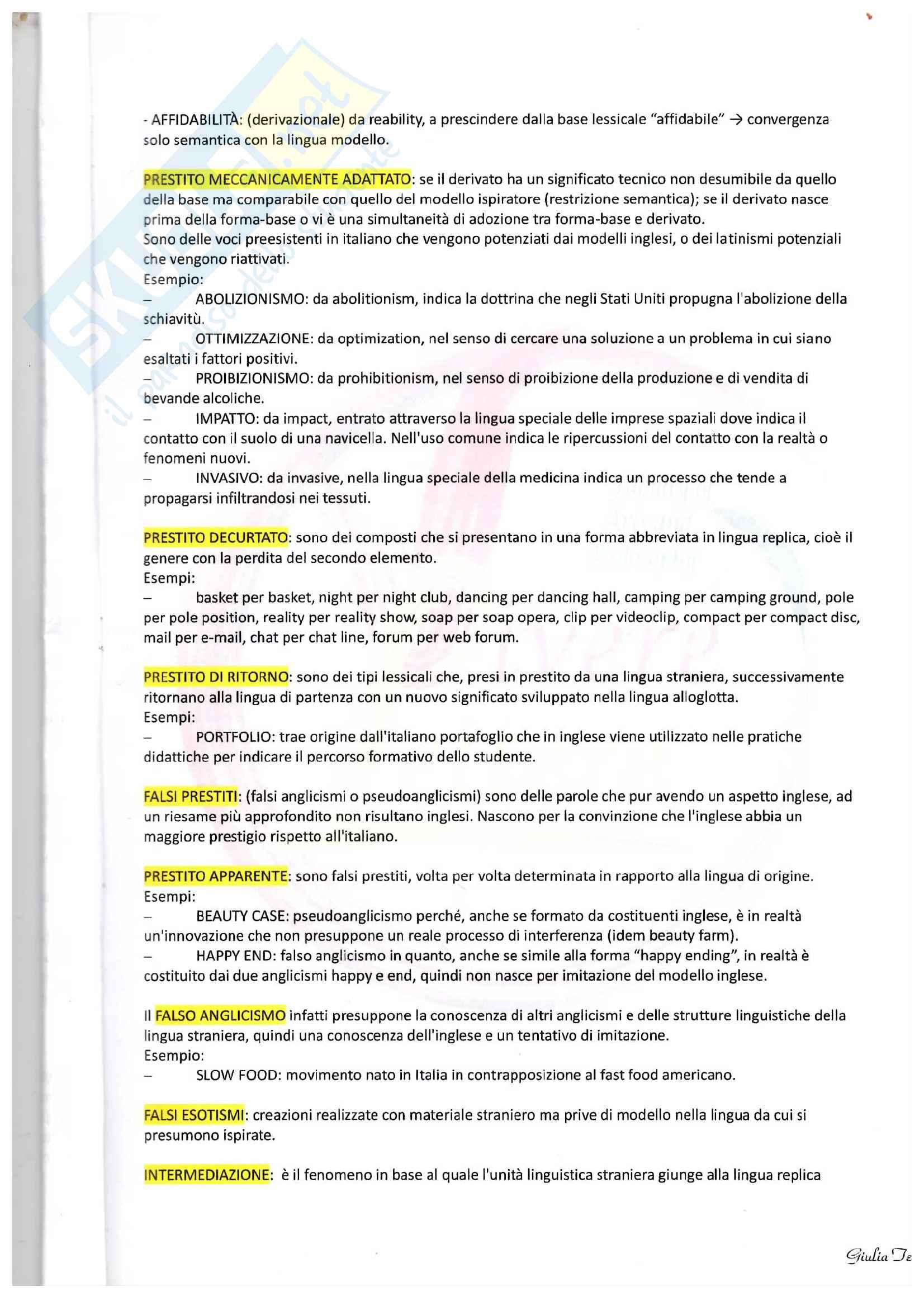 Appunti su calco e prestito, composti dotti e blend Pag. 2
