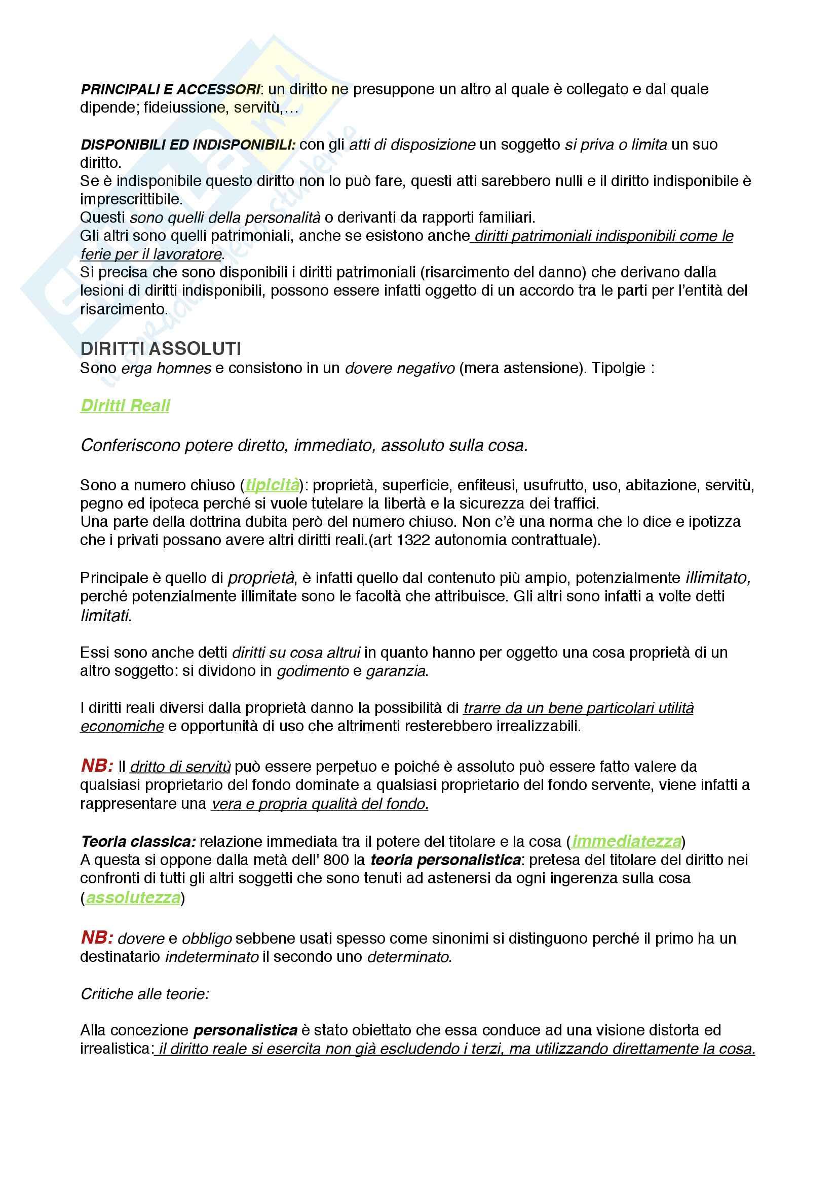 Riassunto esame Istituzioni di diritto privato 1 Pag. 11