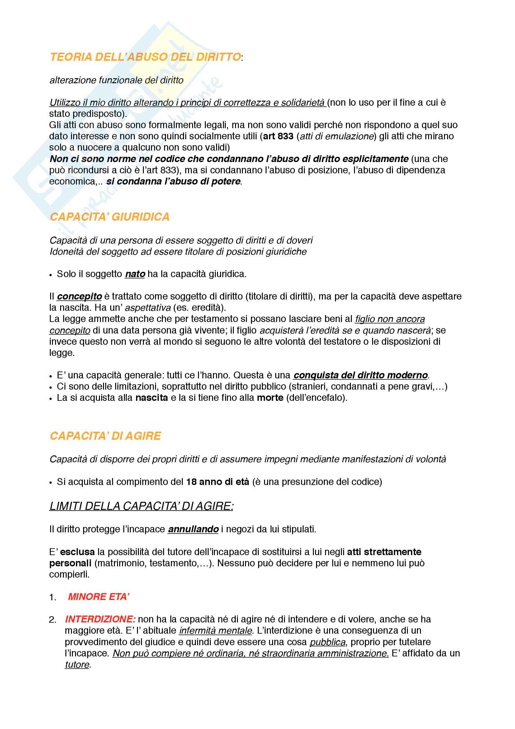 Riassunto esame Istituzioni di diritto privato 1 Pag. 16