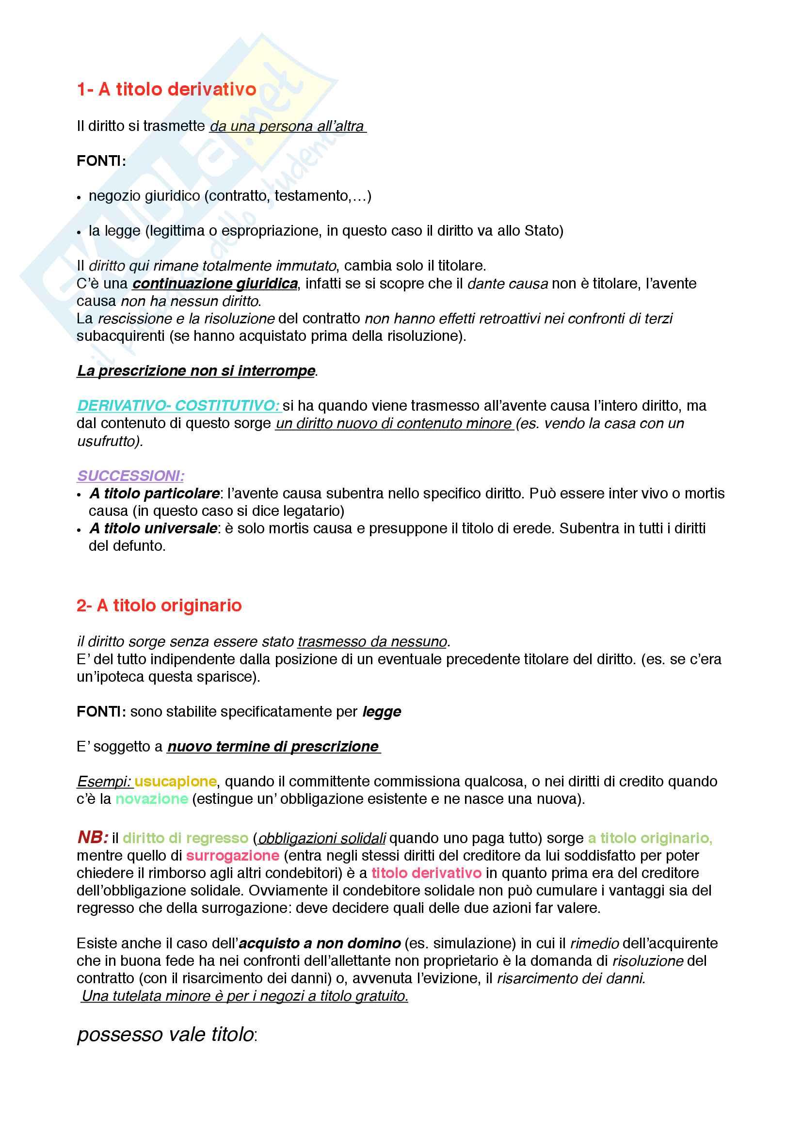Riassunto esame Istituzioni di diritto privato 1 Pag. 21