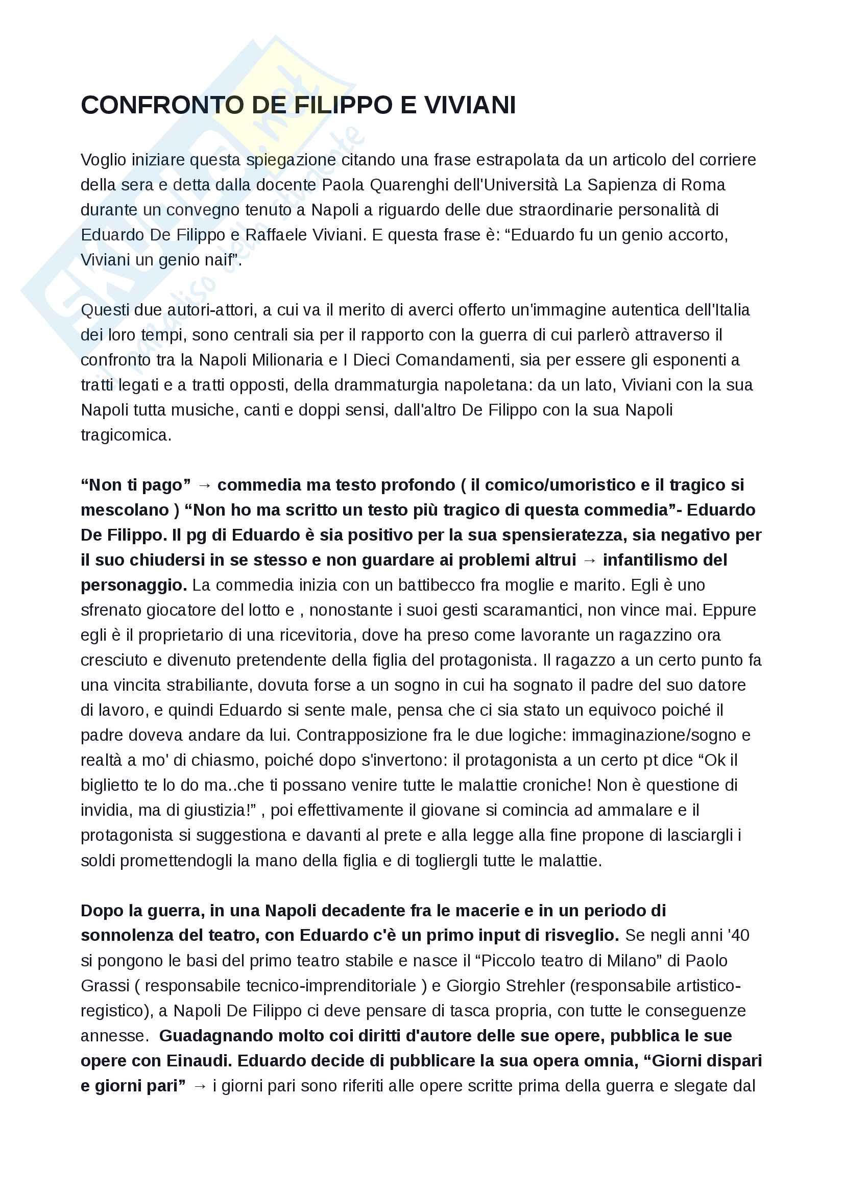 appunto A. Di Nallo Letteratura teatrale italiana