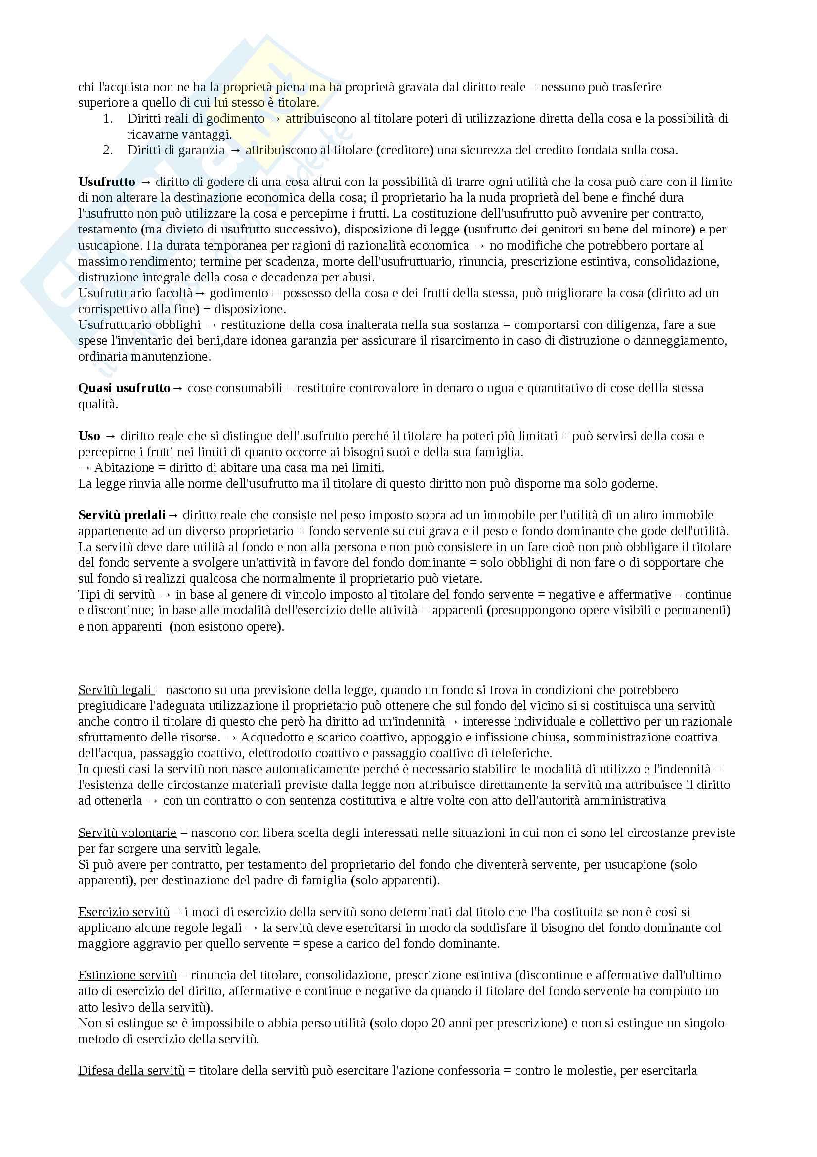 Riassunto esame diritto privato 1 e diritto privato 2, prof Di Gregorio, libro consigliato Diritto privato di Roppo Pag. 46