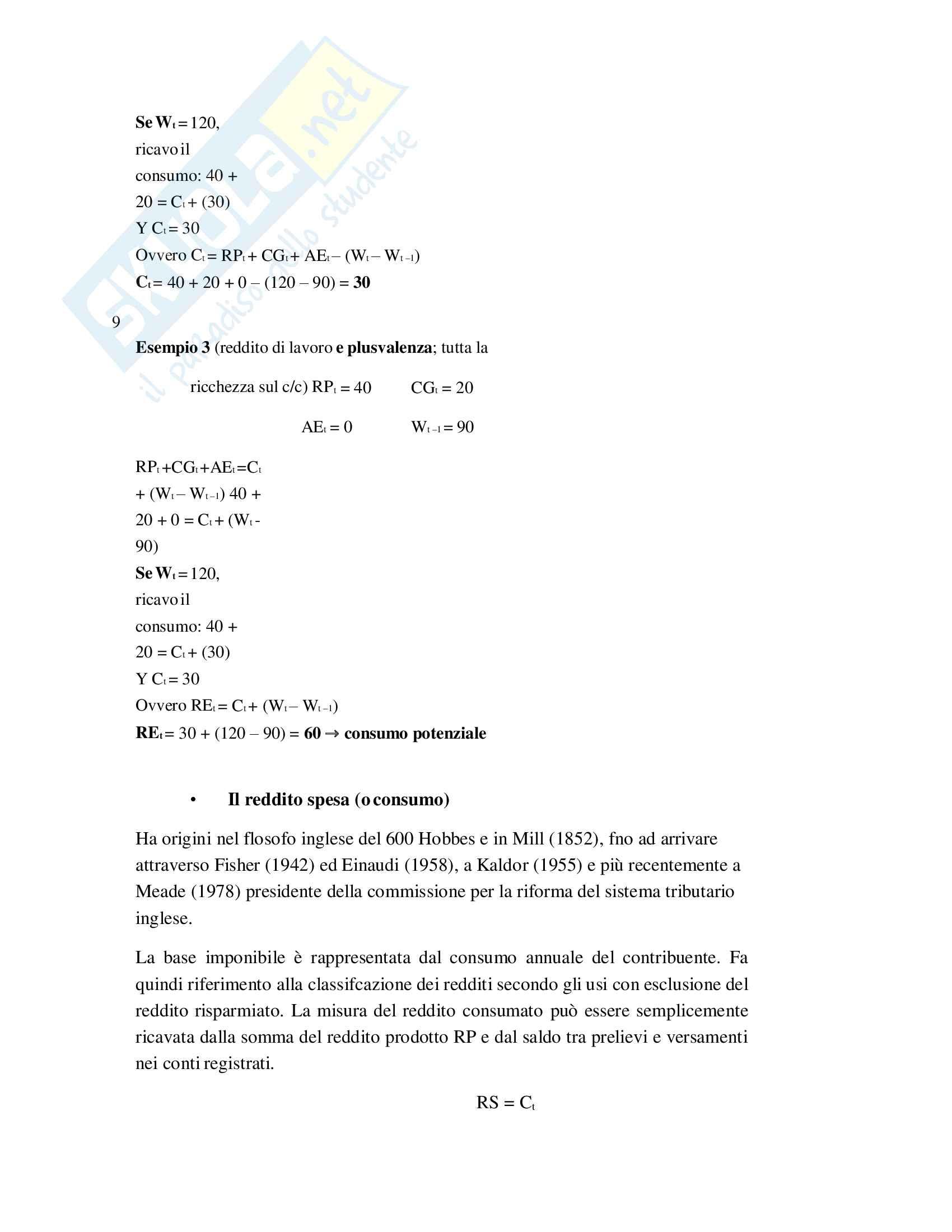 Riassunto Tributi economia italiana, esame di scienza delle finanze, prof Baldini, libro consigliato P. Bosi, M. C. Guerra: I tributi nell'economia italiana Pag. 11
