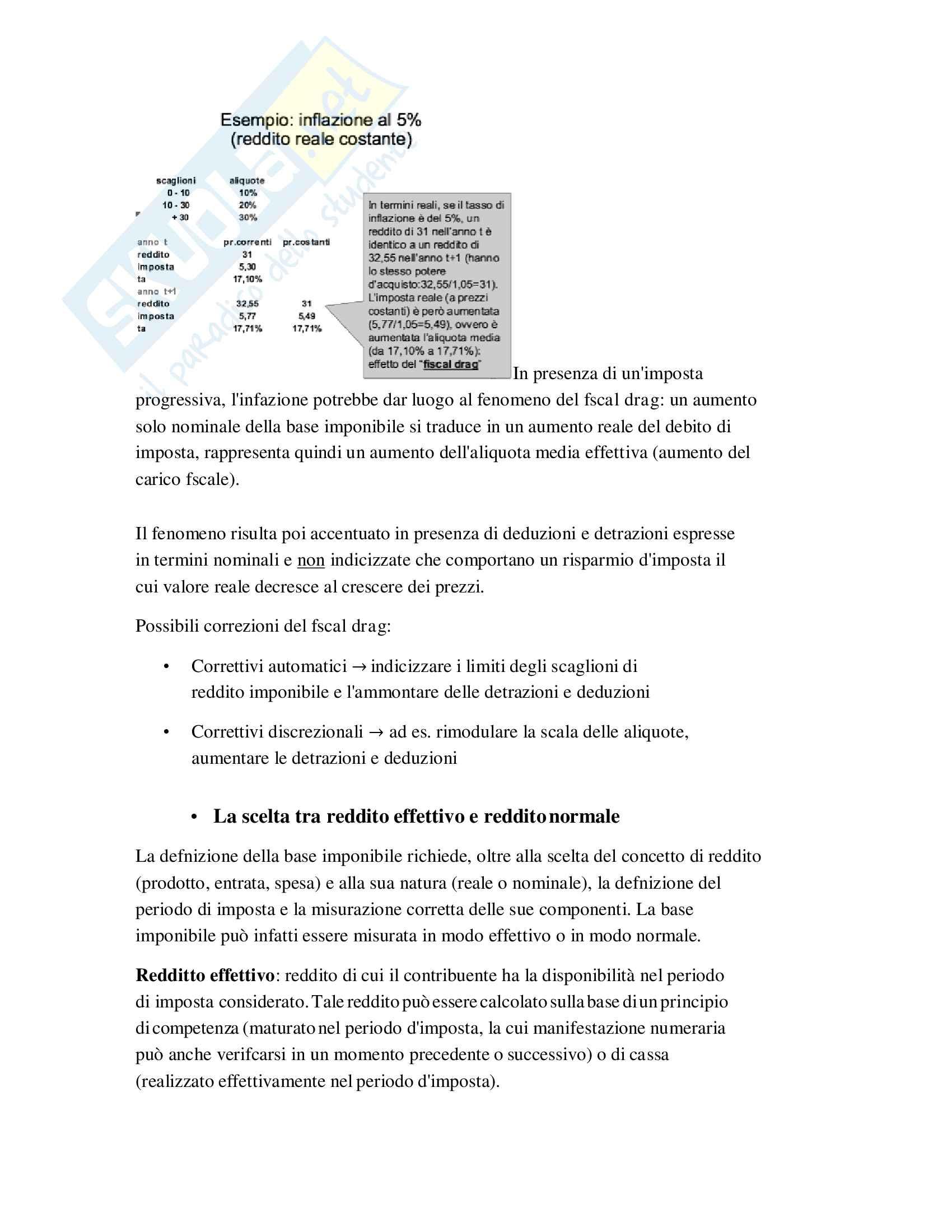 Riassunto Tributi economia italiana, esame di scienza delle finanze, prof Baldini, libro consigliato P. Bosi, M. C. Guerra: I tributi nell'economia italiana Pag. 16