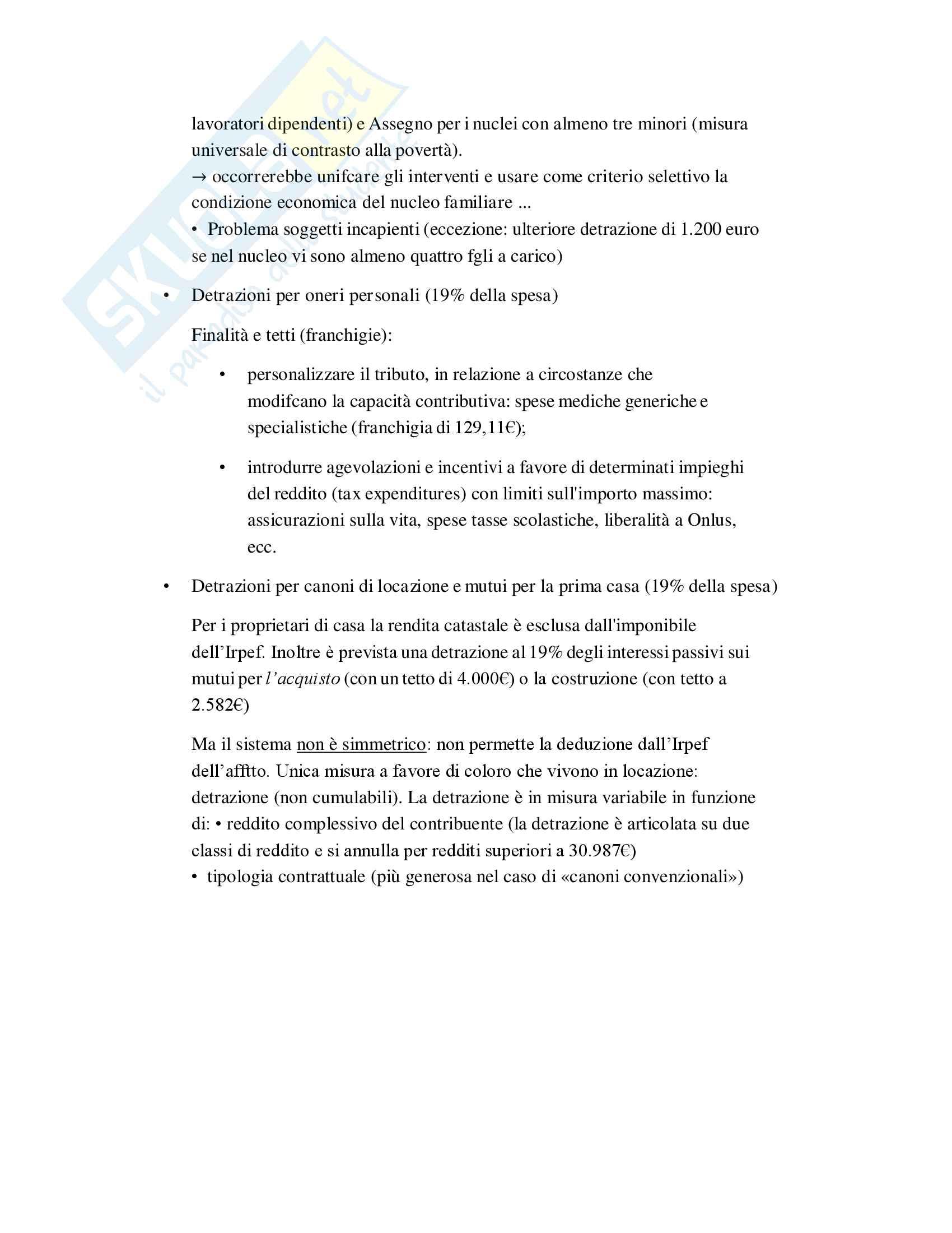 Riassunto Tributi economia italiana, esame di scienza delle finanze, prof Baldini, libro consigliato P. Bosi, M. C. Guerra: I tributi nell'economia italiana Pag. 36