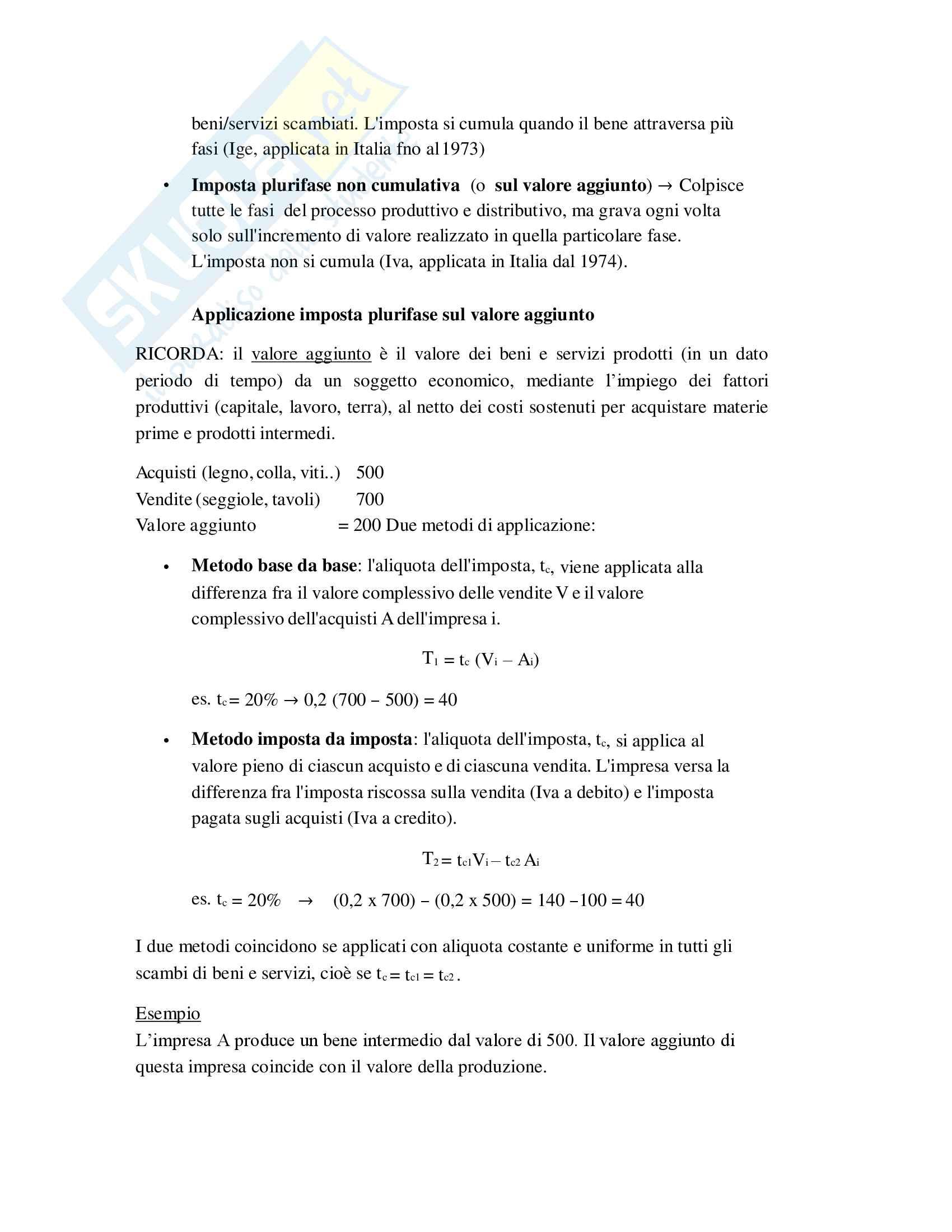 Riassunto Tributi economia italiana, esame di scienza delle finanze, prof Baldini, libro consigliato P. Bosi, M. C. Guerra: I tributi nell'economia italiana Pag. 41