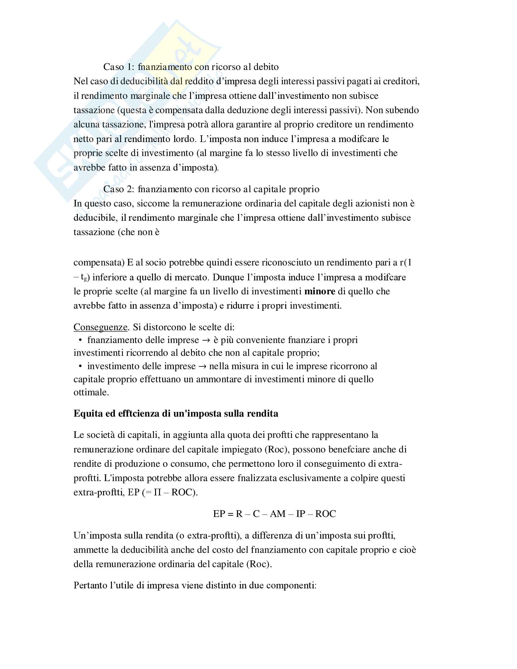 Riassunto Tributi economia italiana, esame di scienza delle finanze, prof Baldini, libro consigliato P. Bosi, M. C. Guerra: I tributi nell'economia italiana Pag. 56