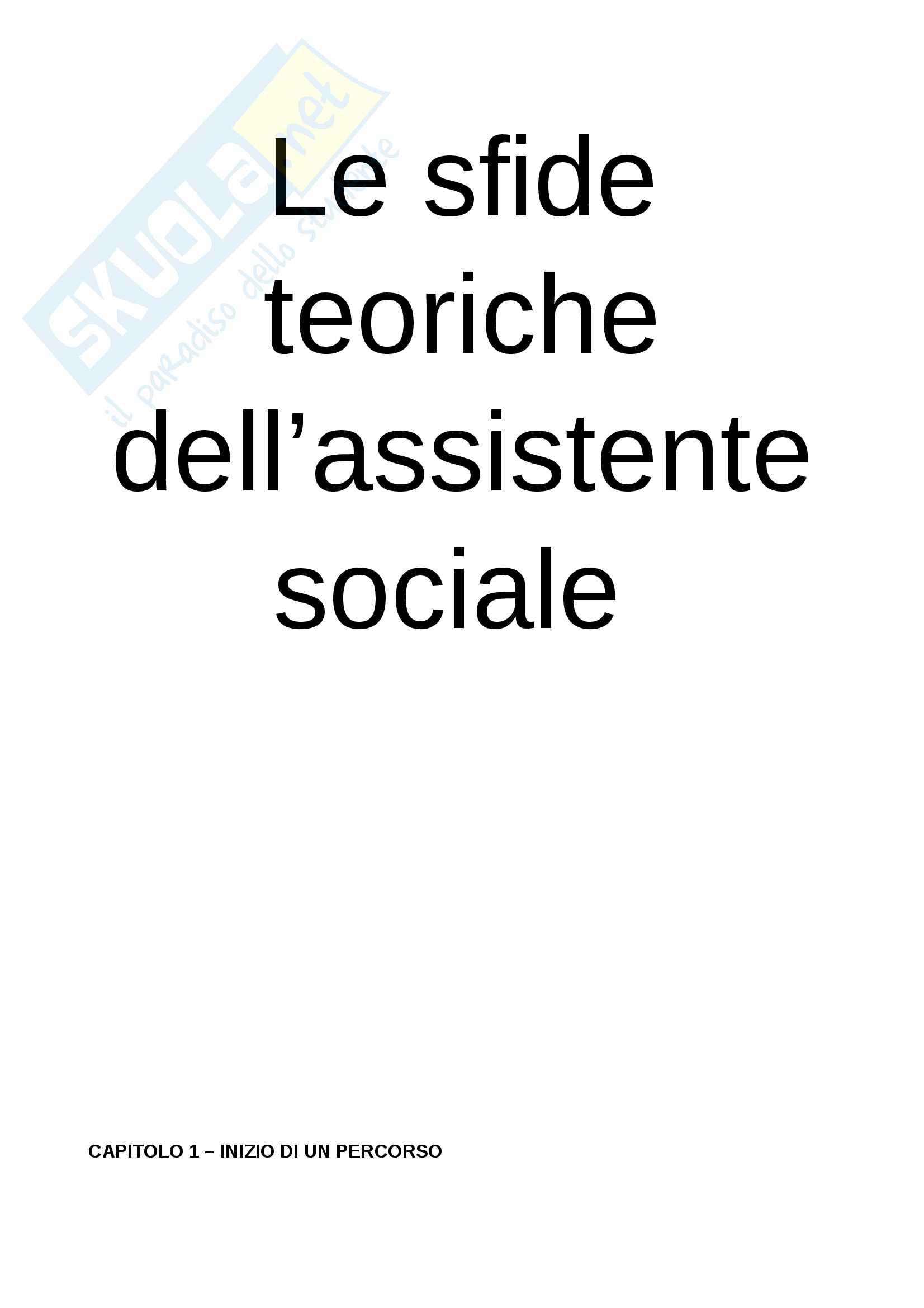 Riassunto per l'esame di tecniche e strumenti del servizio sociale, prof. Rovai, libro consigliato Le sfide teoriche dell'assistente sociale, Gui