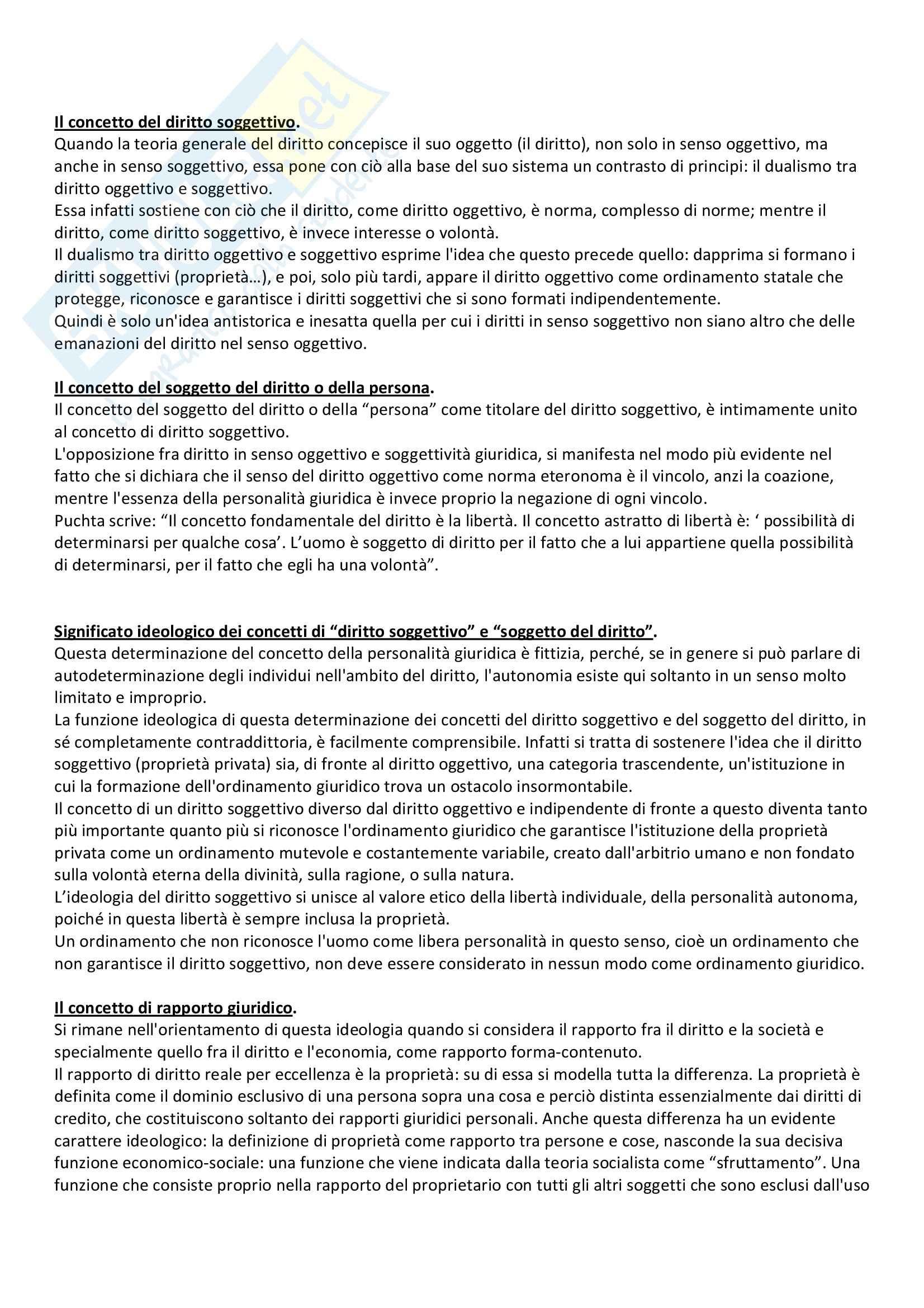 Lineamenti di dottrina pura del diritto, Kelsen - Appunti Pag. 11