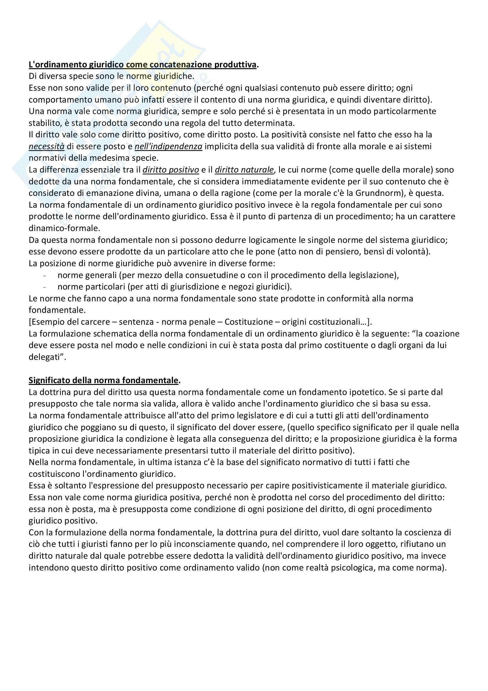 Lineamenti di dottrina pura del diritto, Kelsen - Appunti Pag. 16