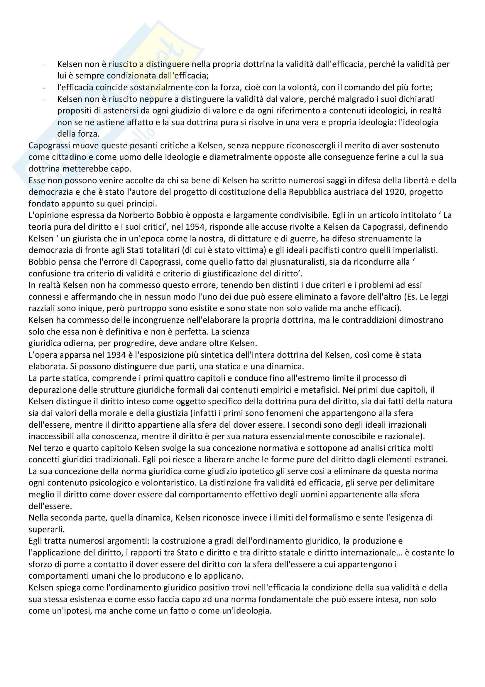Lineamenti di dottrina pura del diritto, Kelsen - Appunti Pag. 2